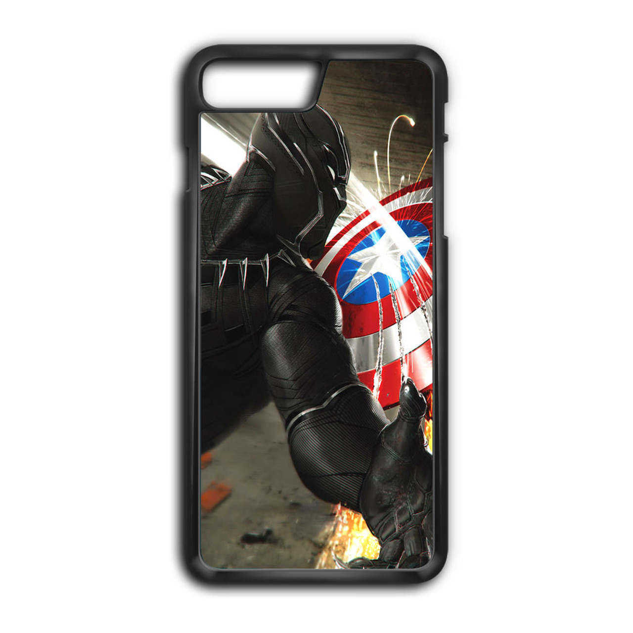 save off 88a4f 26df1 Black Panther Vs Captain America iPhone 7 Plus Case