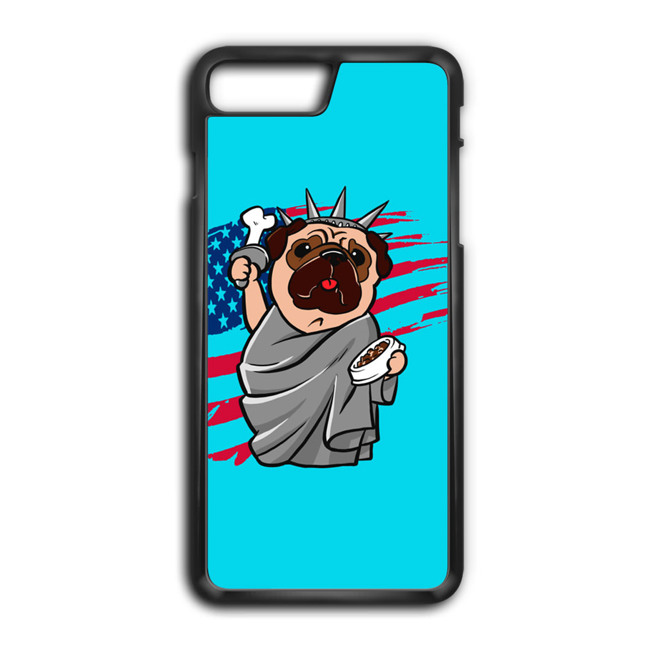 huge selection of e1632 67a32 4th of July, Independence day Pug iPhone 7 Plus Case