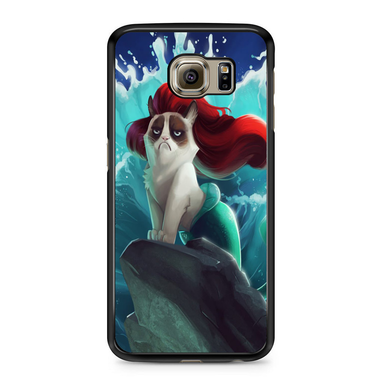 best service 50528 02fe4 Grumpy Cat and Disney Little Mermaid Samsung Galaxy S6 Case