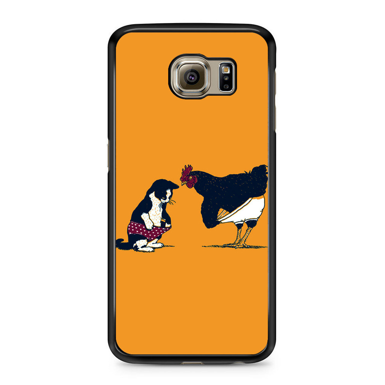 new styles 0bb91 8a557 Cat Chicken Yellow Underwear Cute Samsung Galaxy S6 Case