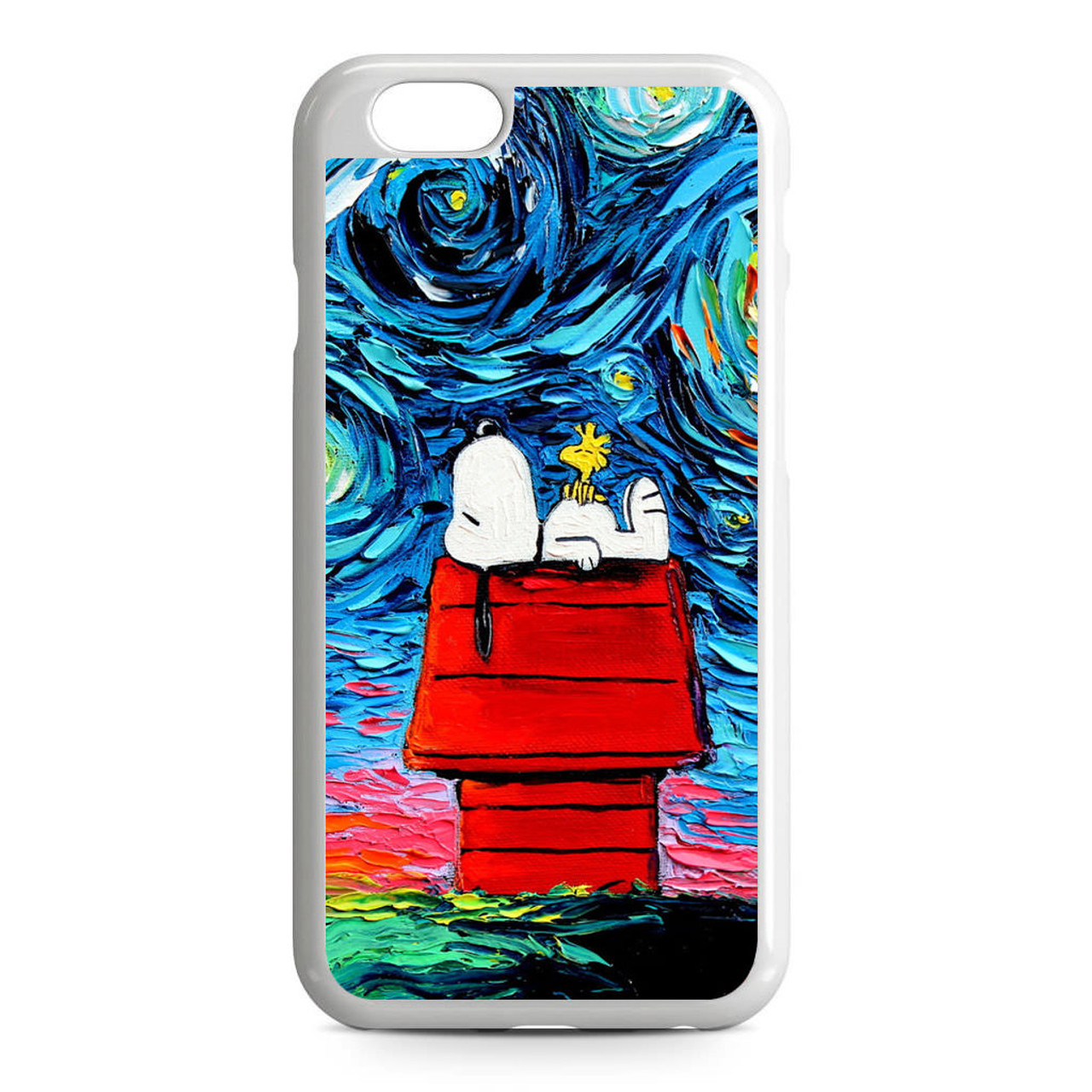 Snoopy Starry Night Van Gogh iPhone 6/6S Case