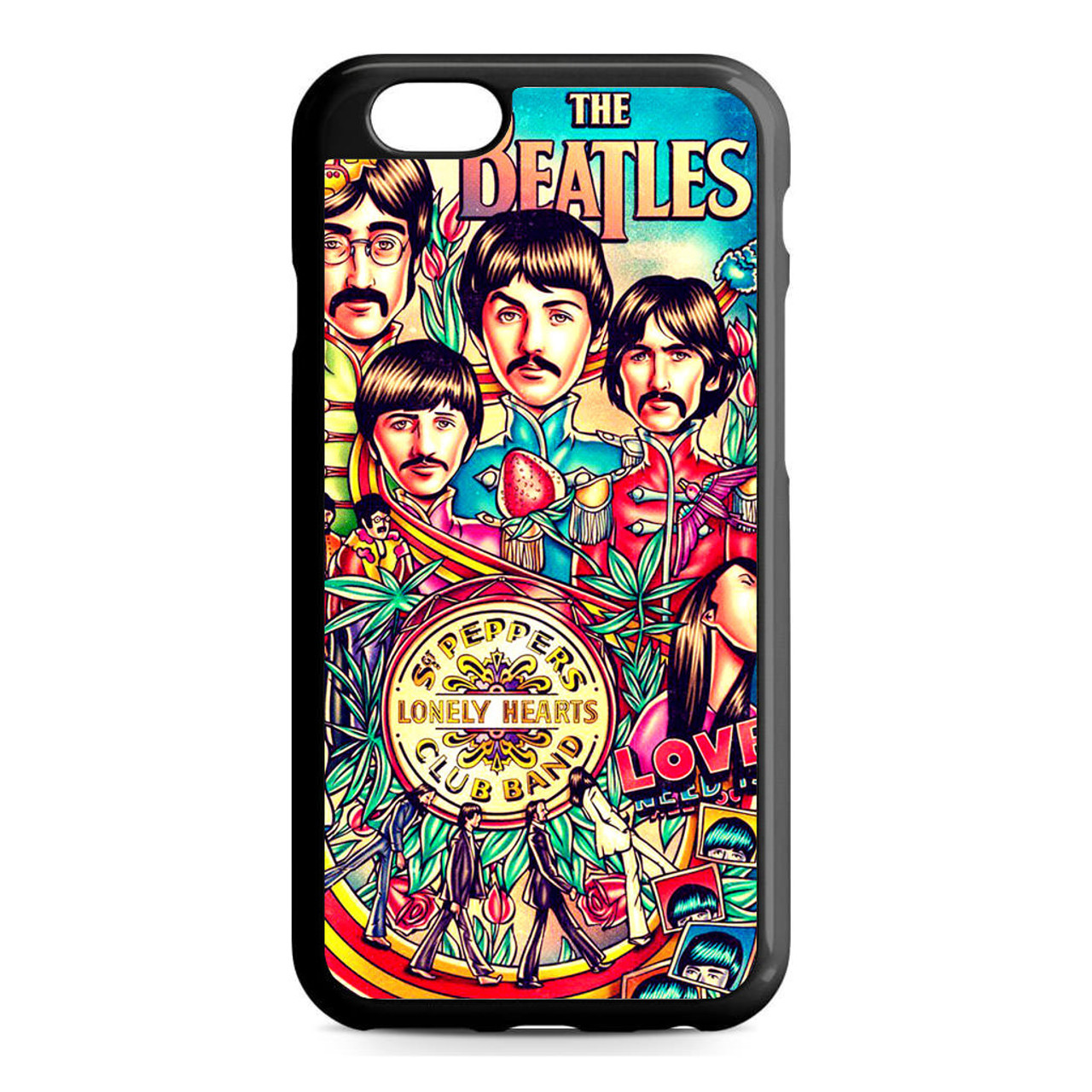 newest e42e2 890f9 The Beatles Vintage Poster iPhone 6/6S Case