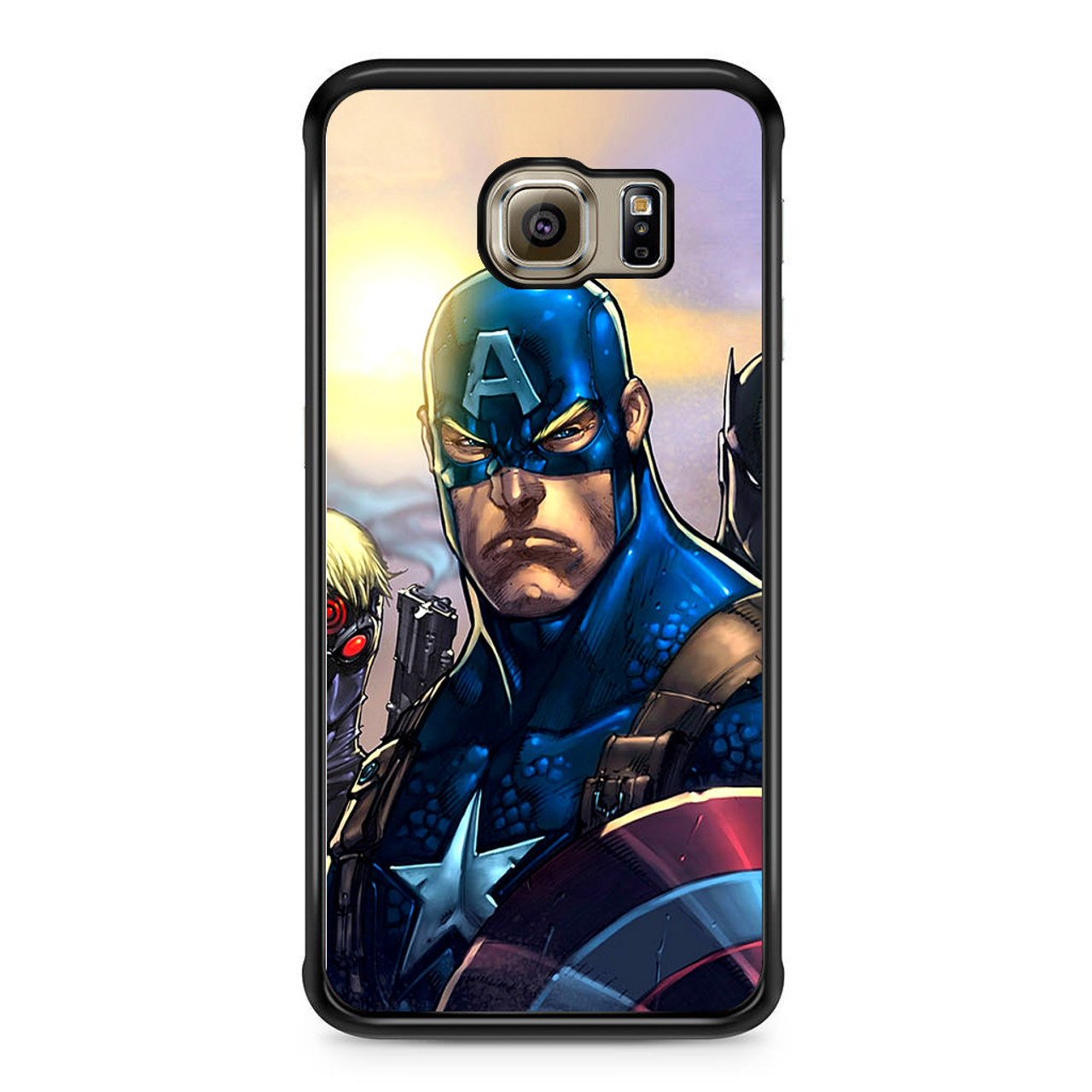 best website 4b047 59e8d Comics Avengers Captain America Samsung Galaxy S6 Edge Case