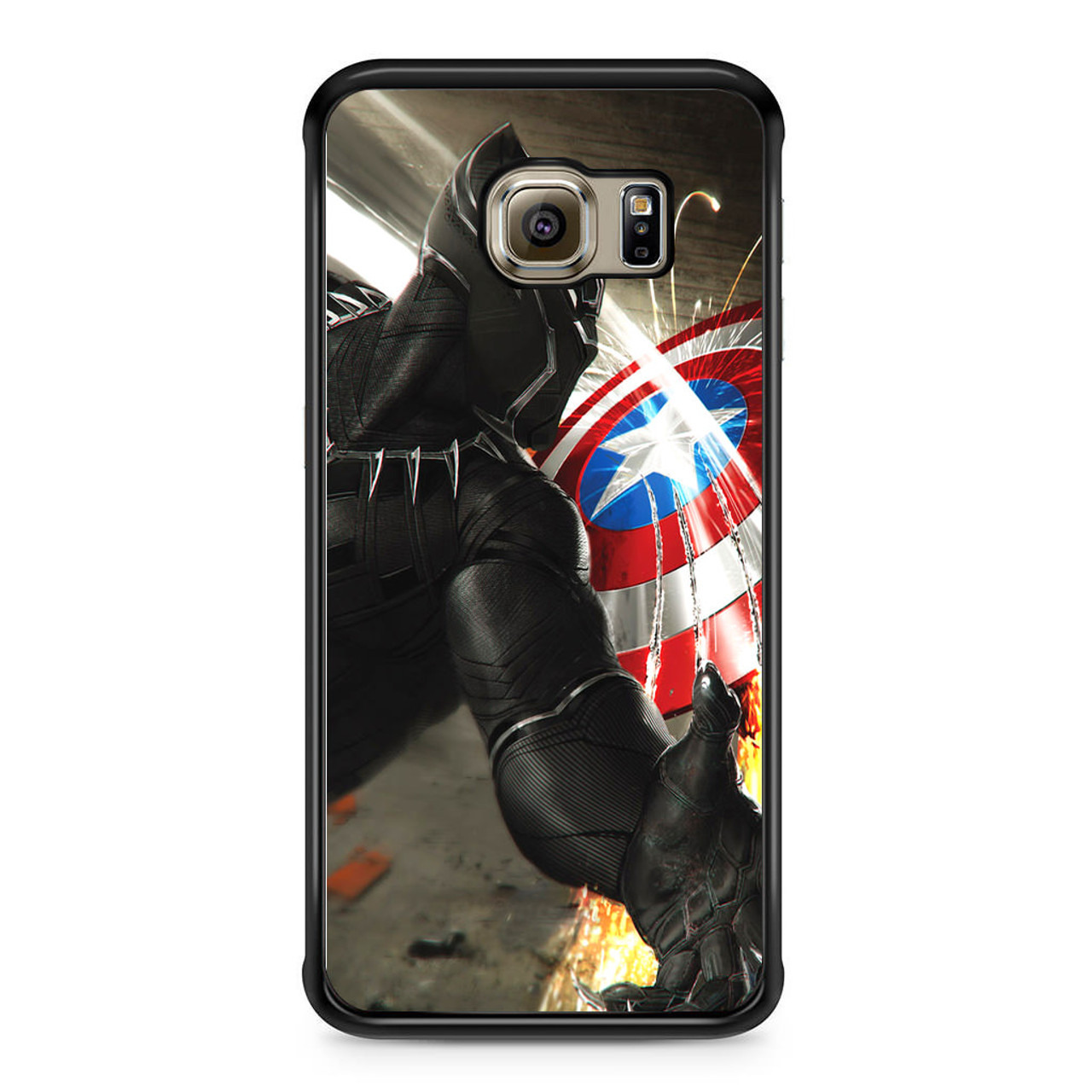 finest selection 90441 80f7d Black Panther Vs Captain America Samsung Galaxy S6 Edge Case