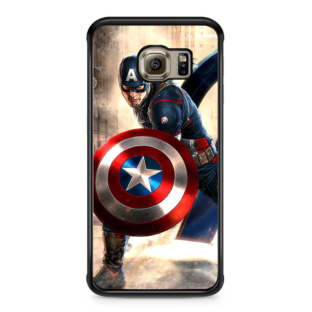 newest df46b 9fb57 Captain America Avengers Samsung Galaxy S6 Edge Case