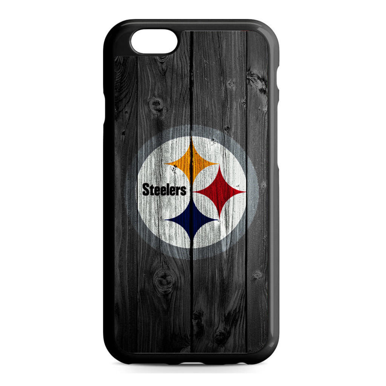 buy popular 26501 981ad Pittsburgh Steelers Wood iPhone 6/6S Case