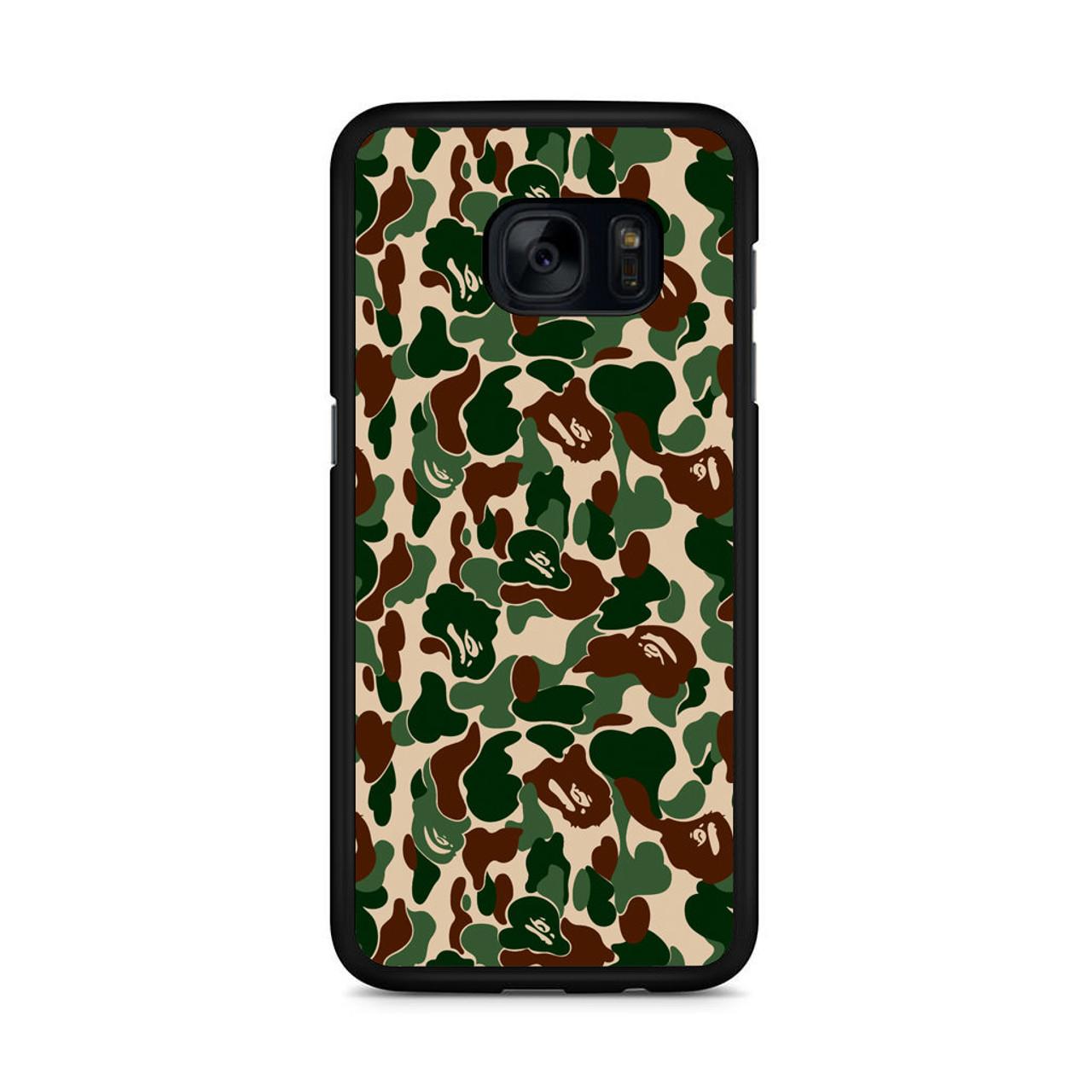 superior quality f3c75 ccaf4 Bathing Ape Bape Camo Real Tree Samsung Galaxy S7 Edge Case