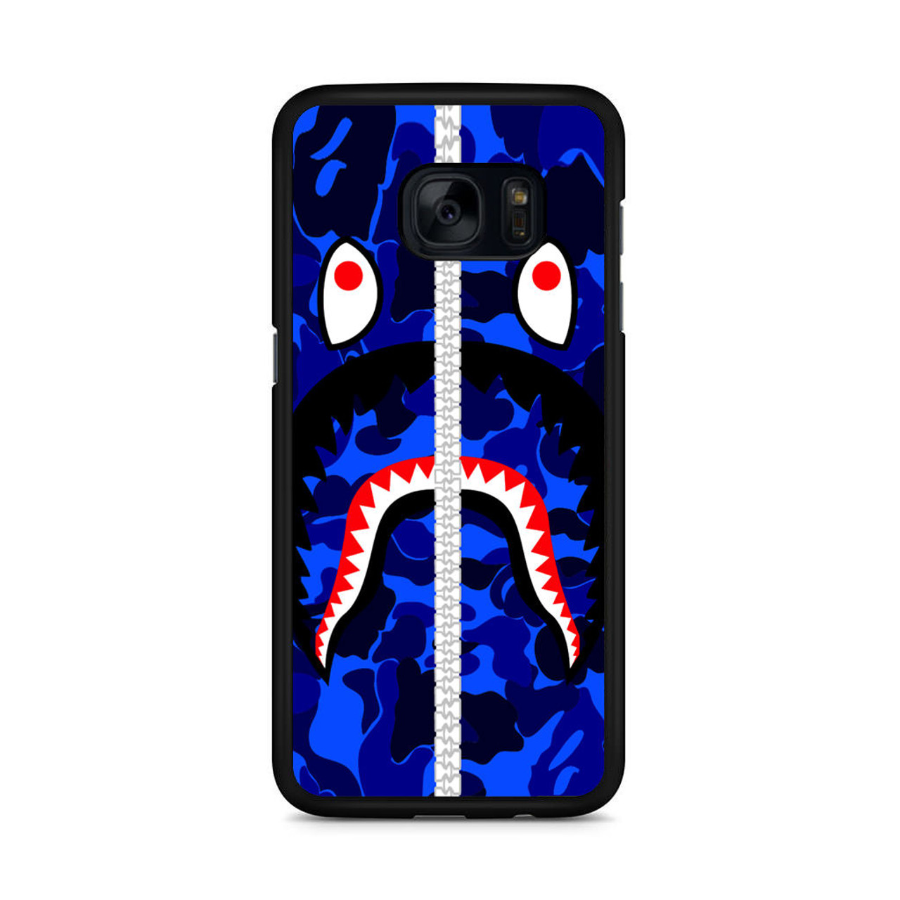 the best attitude f5e87 89048 Bape Shark Samsung Galaxy S7 Edge Case