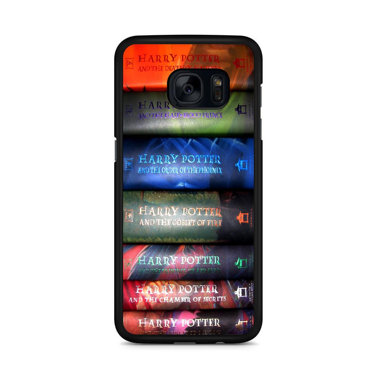 e0c73c2c54d Harry Potter All 7 Book Samsung Galaxy S7 Edge Case - CASESHUNTER