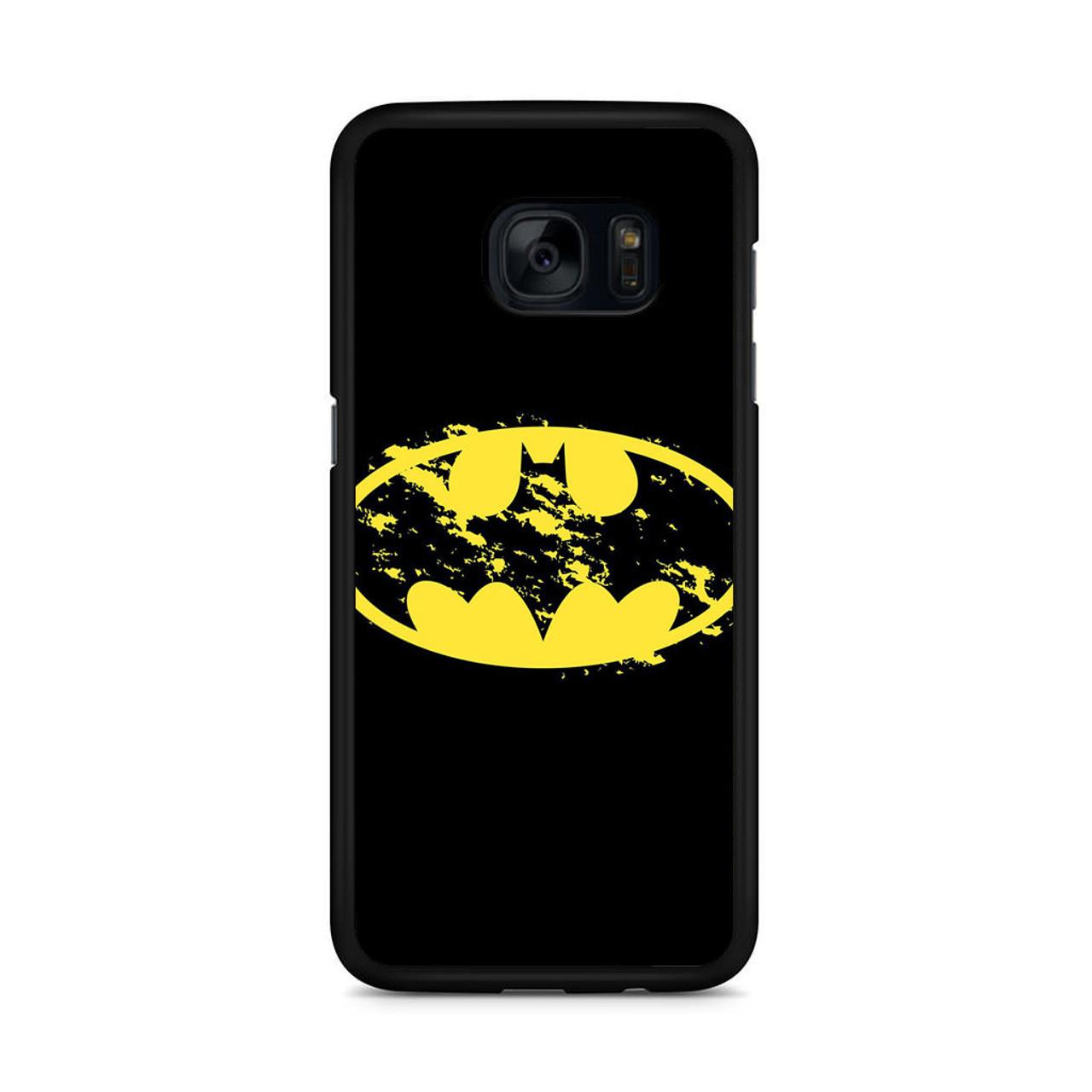 wholesale dealer e48db 57b27 Batman Dark Art Logo Samsung Galaxy S7 Edge Case