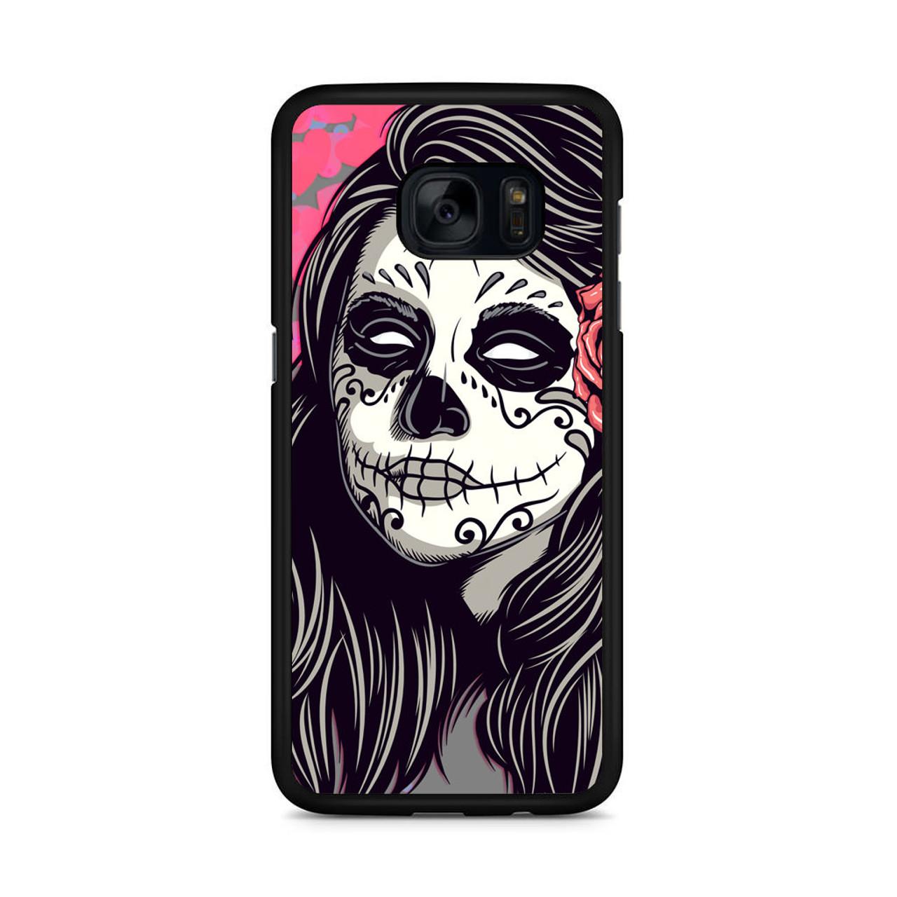 big sale 6dc3b a643a Mexican Girl Skull Samsung Galaxy S7 Edge Case