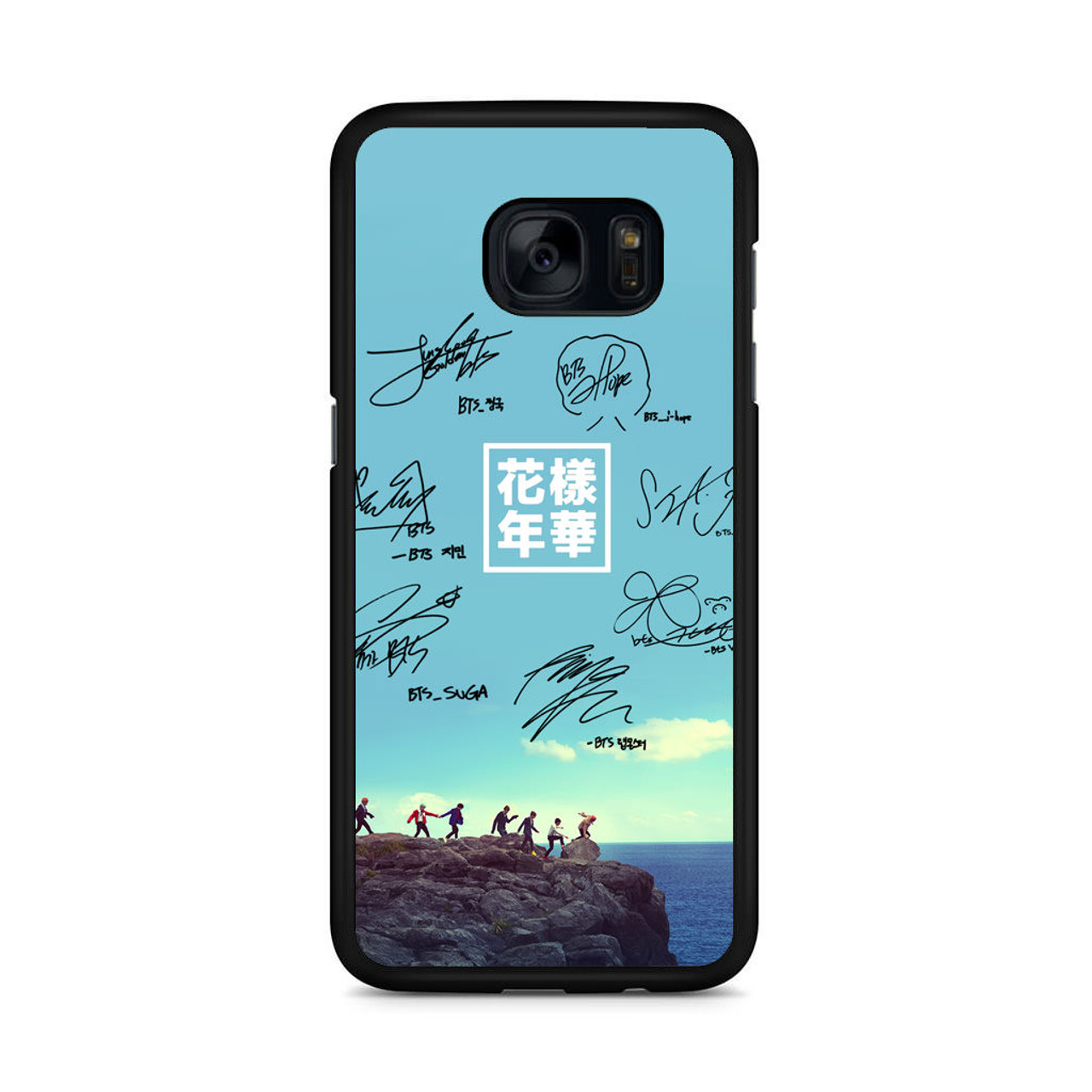 quality design c8ce3 8818e BTS Signature1 Samsung Galaxy S7 Edge Case