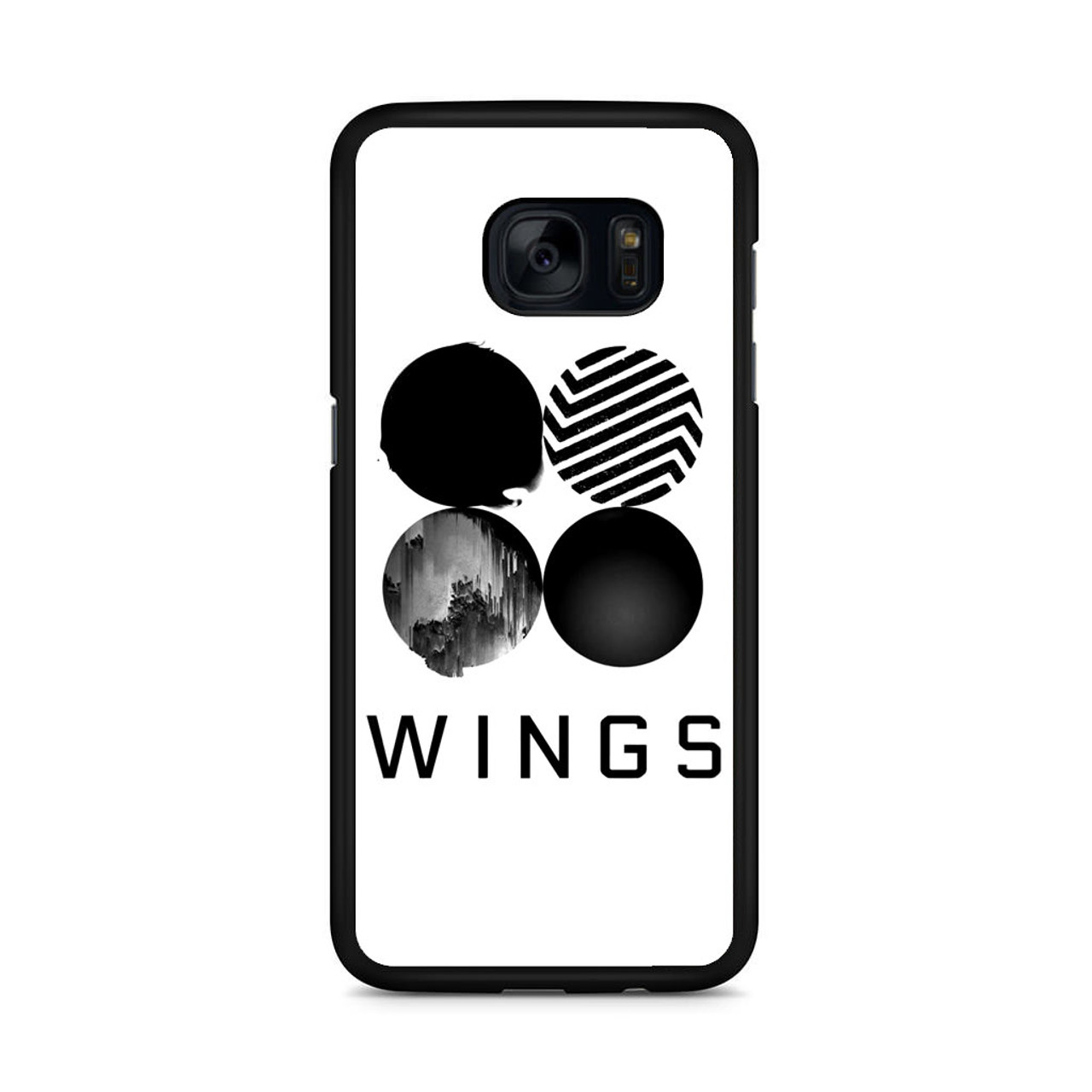 uk availability 6351f dc7d2 BTS Wings Samsung Galaxy S7 Edge Case