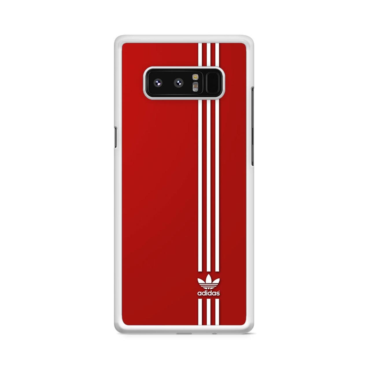 Brand Adidas Red White Sport Samsung Galaxy Note 8 Case