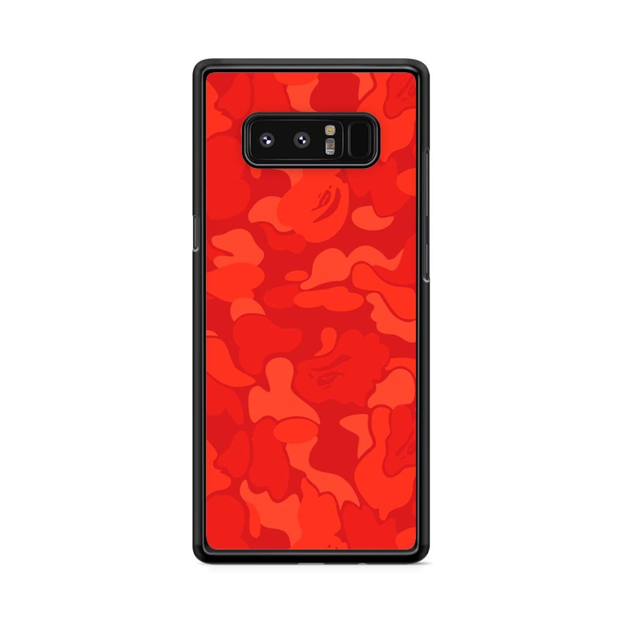 size 40 884d1 c1633 Bape Camo Red Samsung Galaxy Note 8 Case
