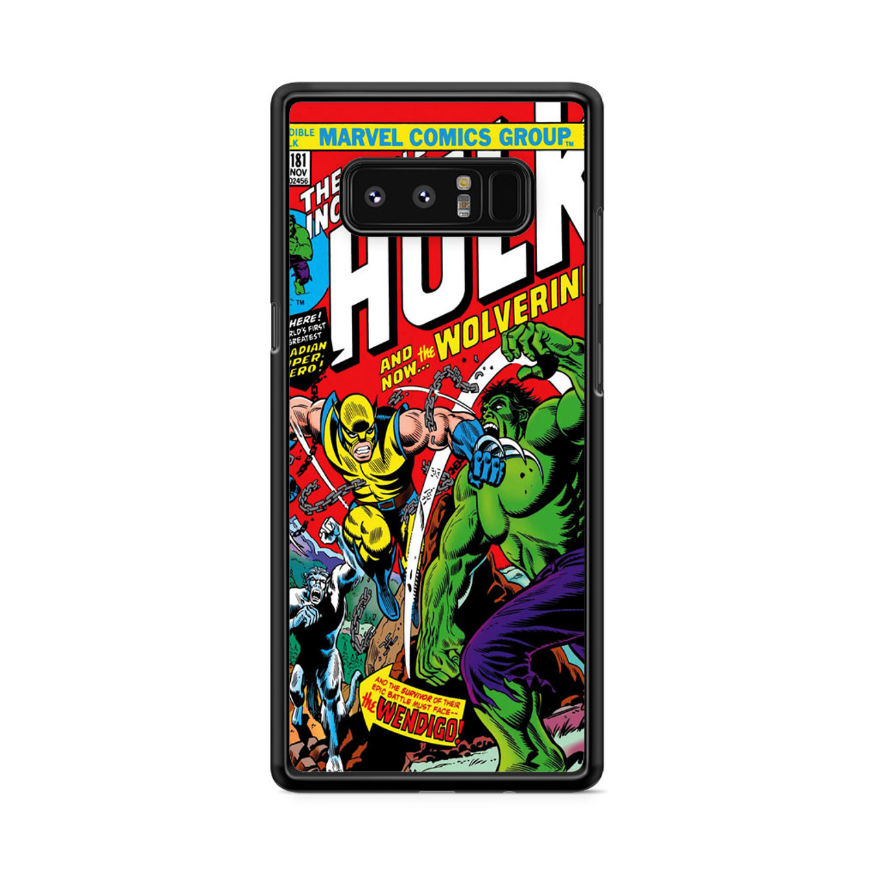 buy online 9d4e0 8fb6f Marvel Comics Cover The Incredible Hulk Samsung Galaxy Note 8 Case
