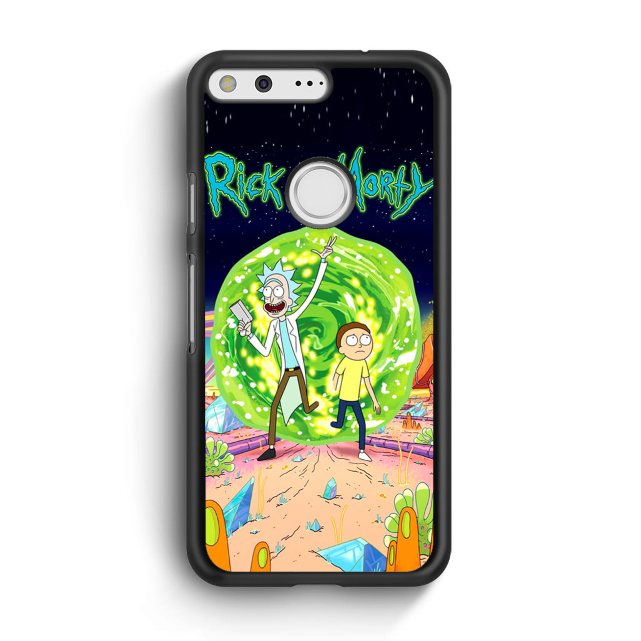 new concept 93b77 ab22a Rick and Morty Poster Google Pixel XL Case