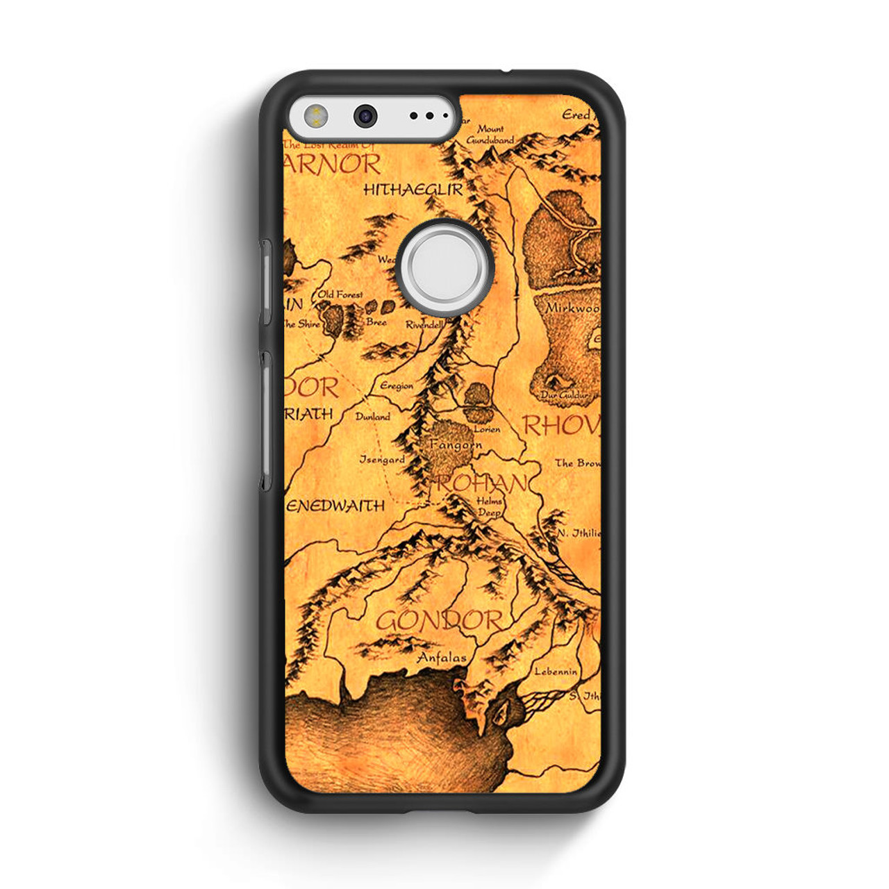Middle Earth Map The Hobbit Google Pixel Case