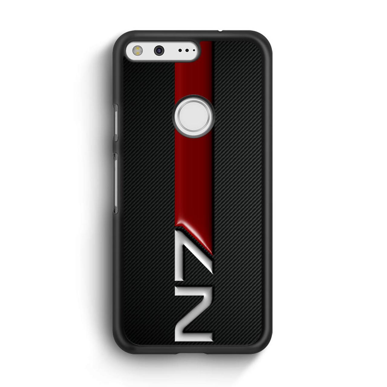 buy popular 3fa28 69bb6 Mass Effect N7 Logo Carbon Google Pixel Case
