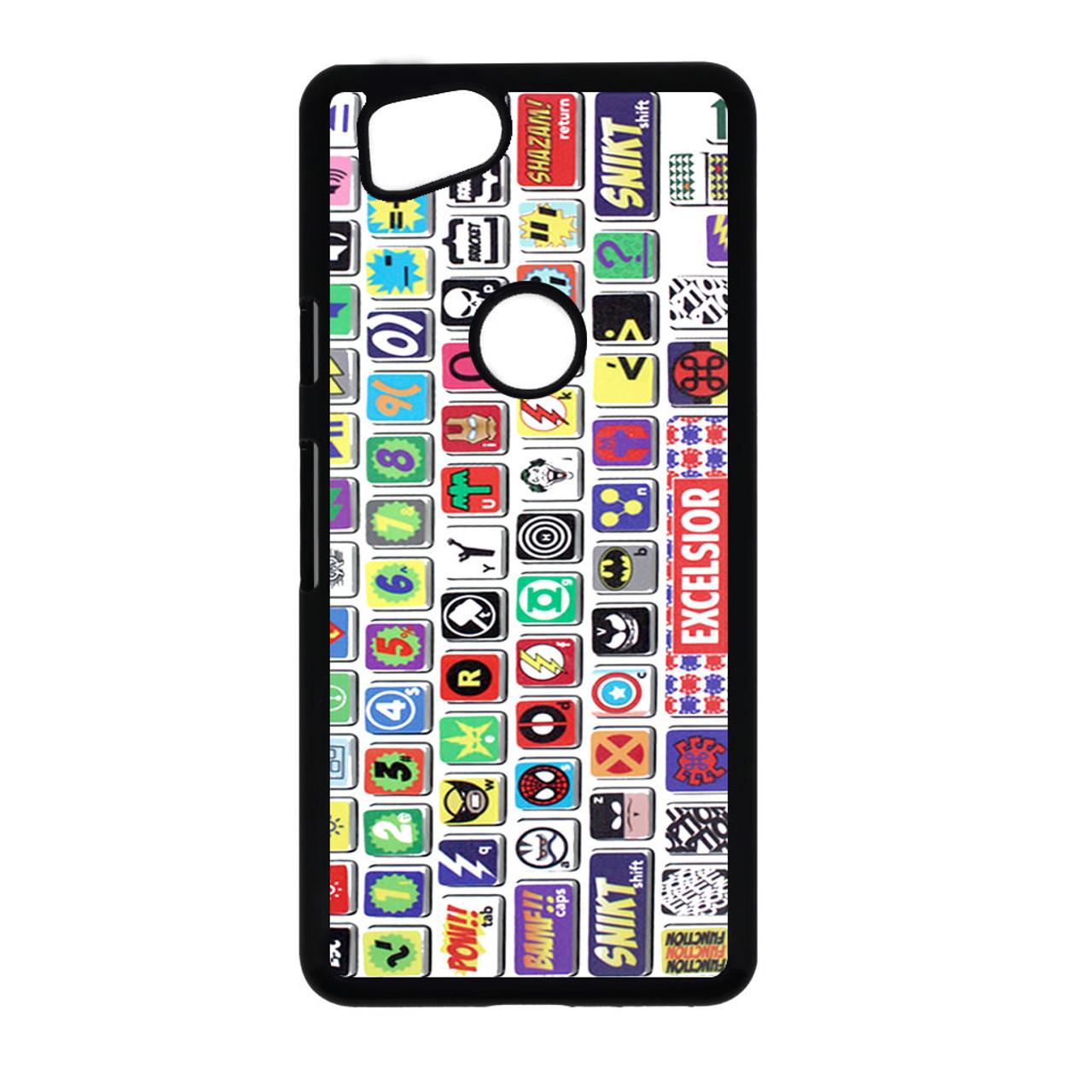 finest selection 45da8 ce4de Macbook Keyboard Super Hero Google Pixel 2 Case