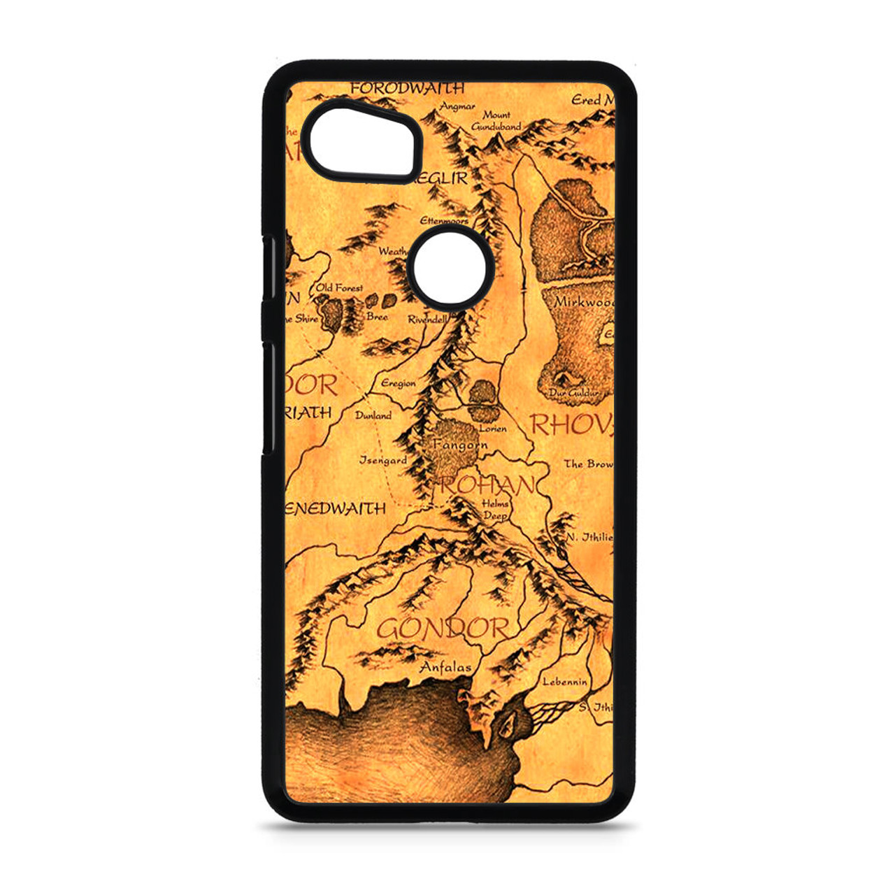 uk availability 1ac75 8d7be Middle Earth Map The Hobbit Google Pixel 2 XL Case