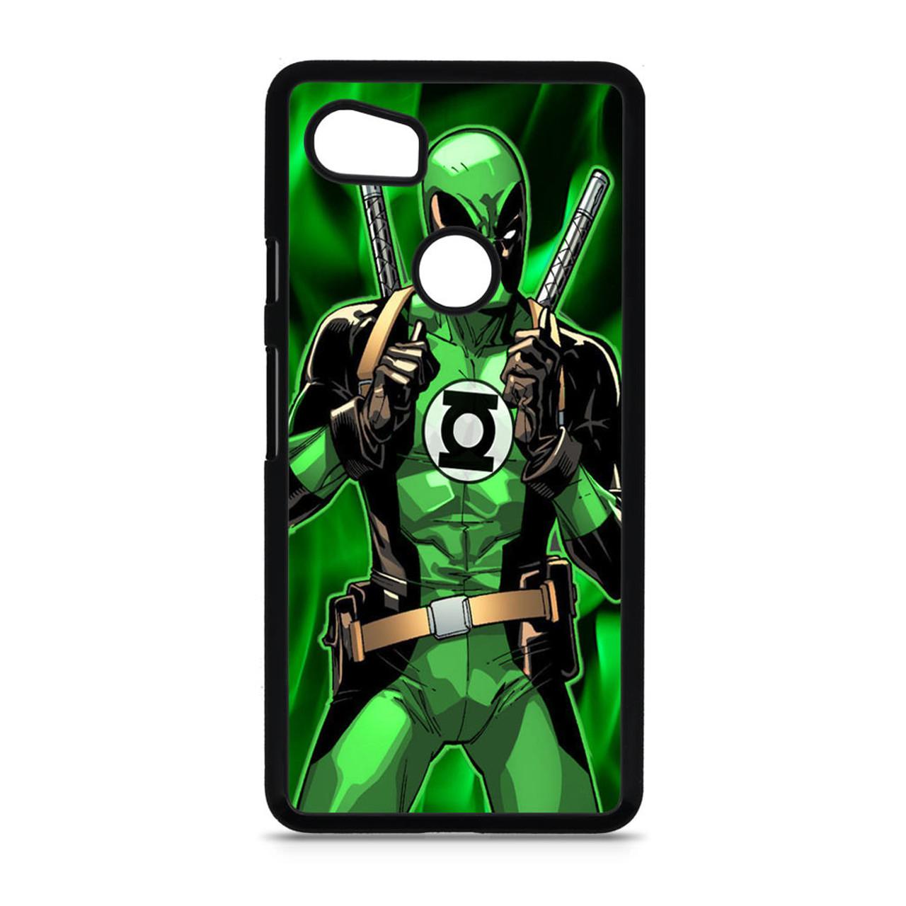 promo code f8bae 80285 Deadpool Green Latern Custom Google Pixel 2 XL Case