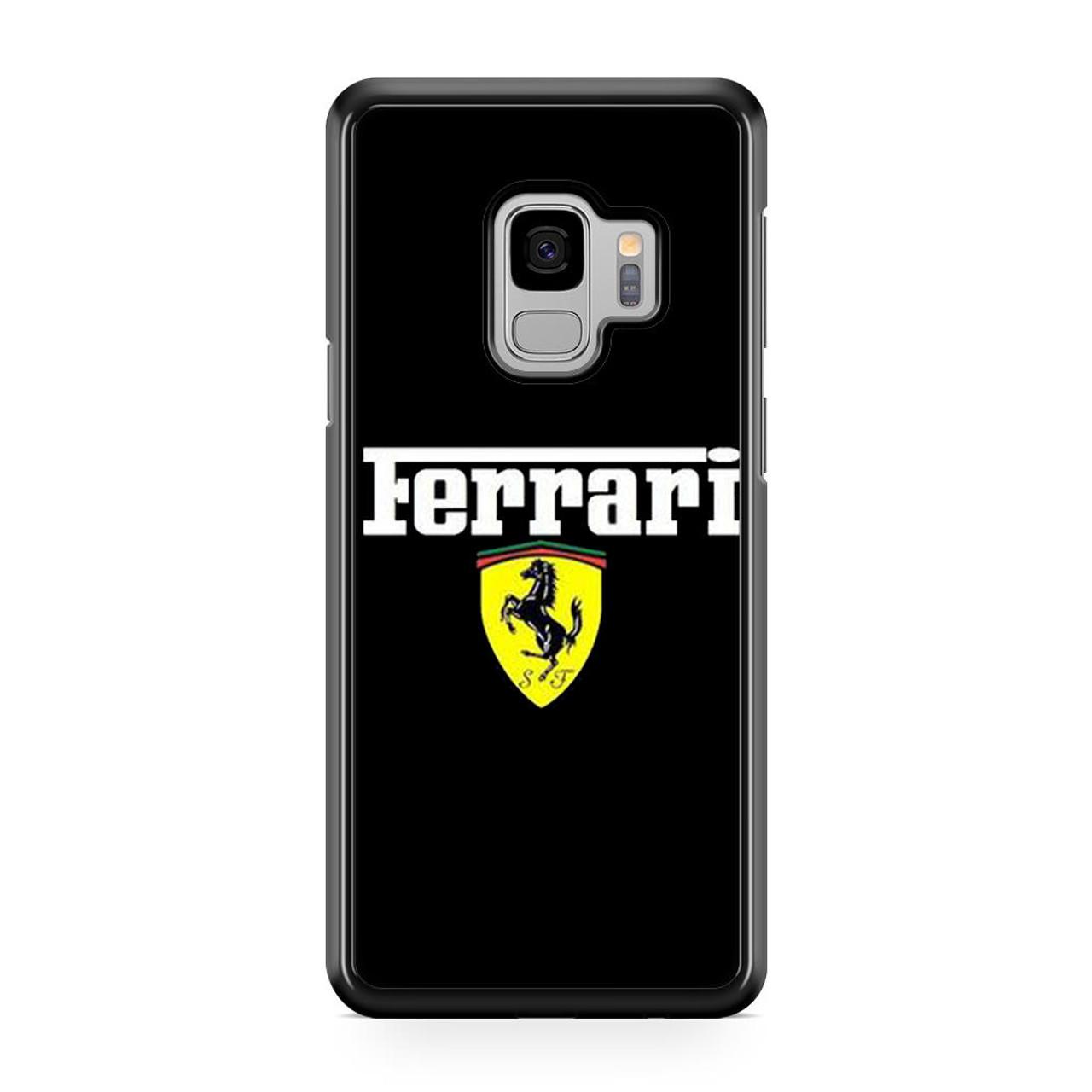 pretty nice b2836 7f765 Ferrari Black Logo Samsung Galaxy S9 Case