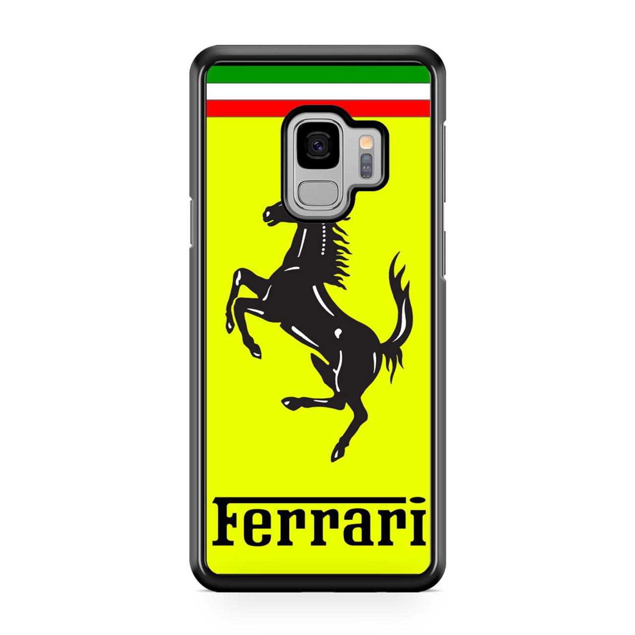 detailed look 61a85 675cc Ferrari Logo Samsung Galaxy S9 Case