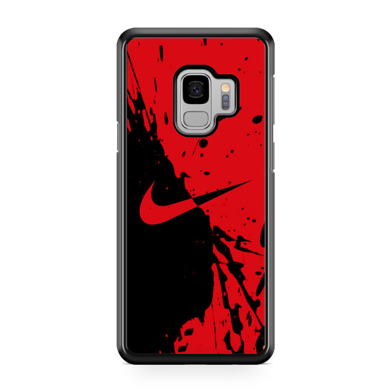 new product 1a09d 0c640 Nike Red and Black Samsung Galaxy S9 Case