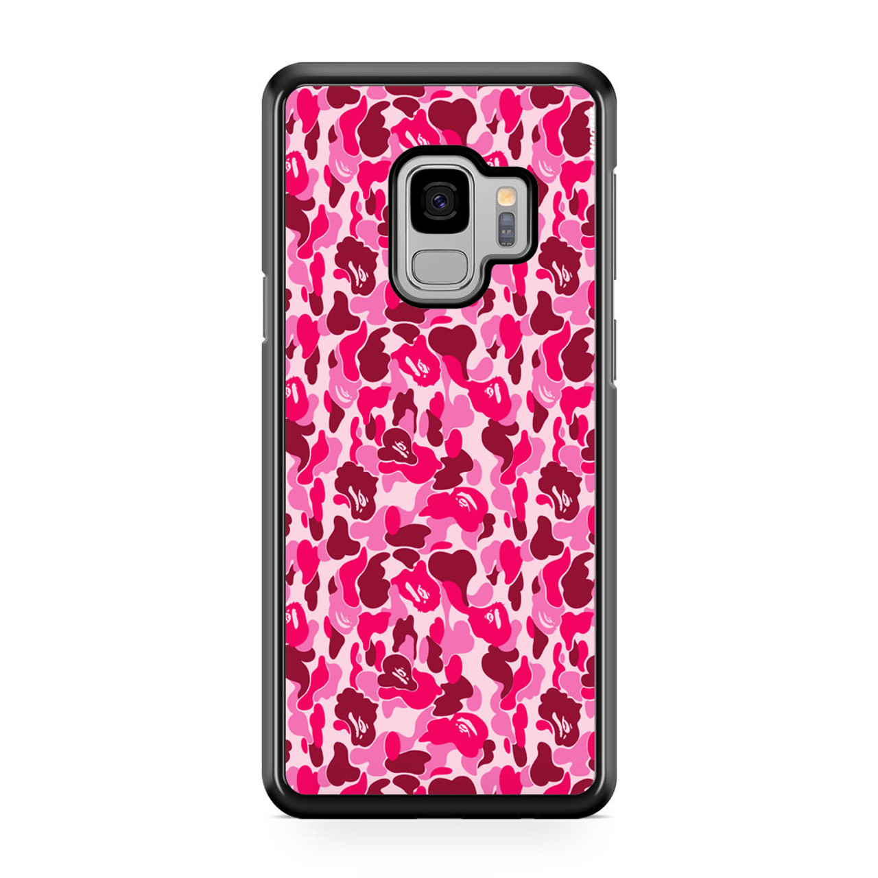 new products a1a72 53441 Bathing Ape Bape Pink Samsung Galaxy S9 Case
