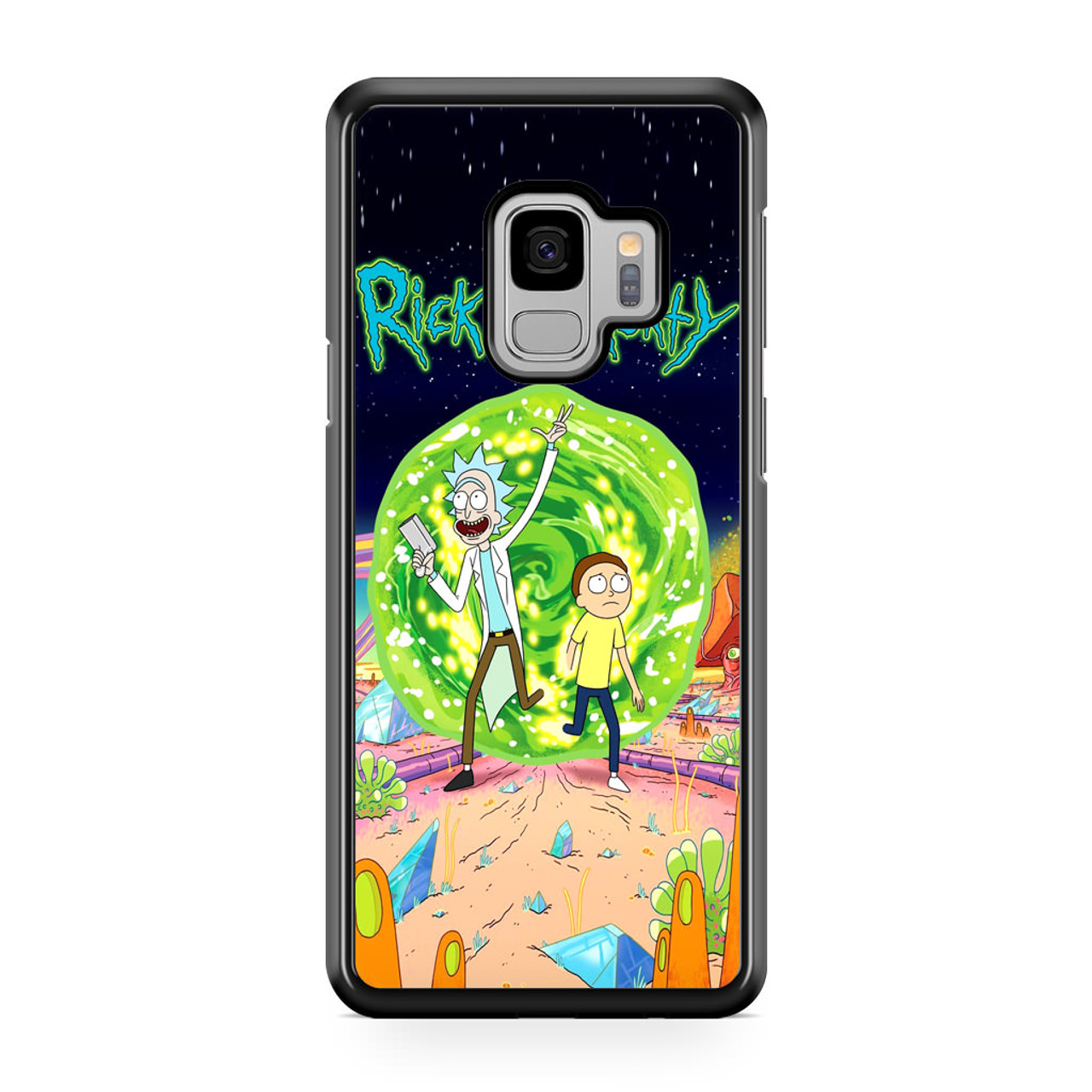 online store 3ca8f 2ad8e Rick and Morty Poster Samsung Galaxy S9 Case