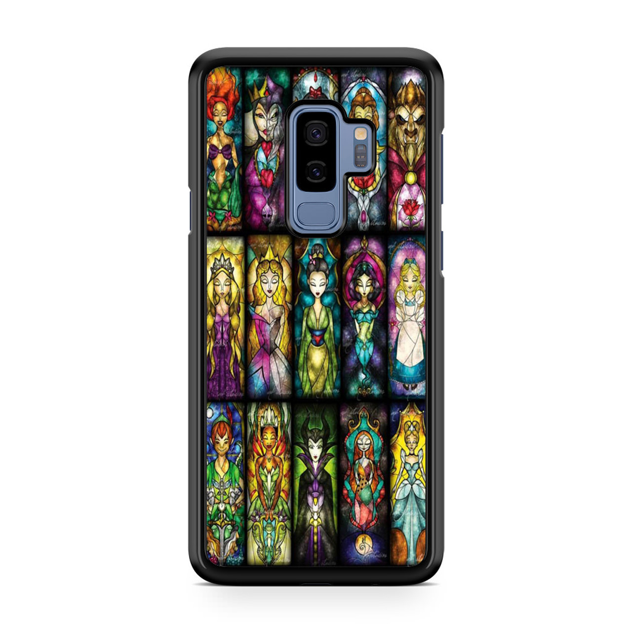 lowest price 1038e 4110e All Princess disney stained glass Samsung Galaxy S9 Plus Case