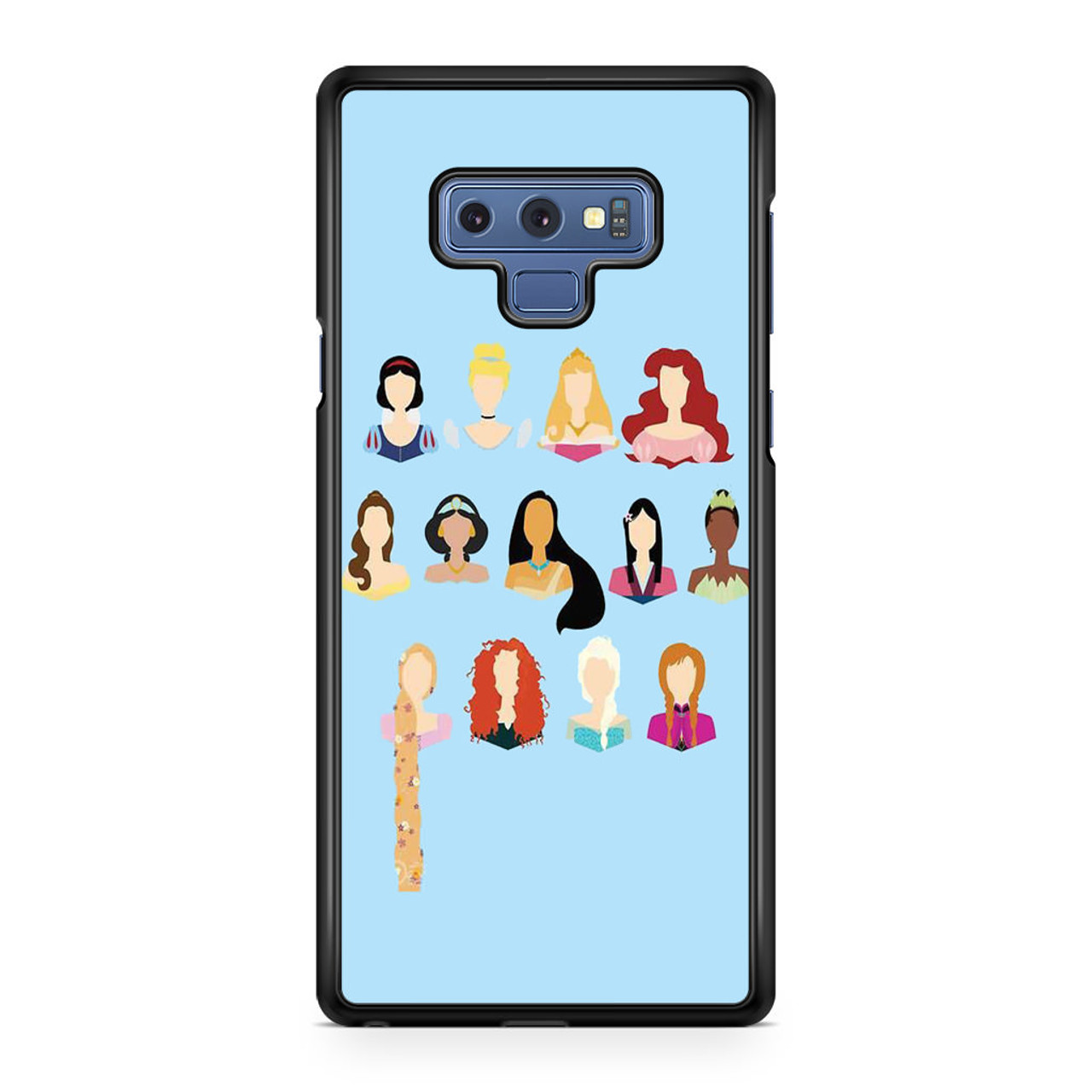 new products 30bce d4a14 Disney All Princess No Face Samsung Galaxy Note 9 Case