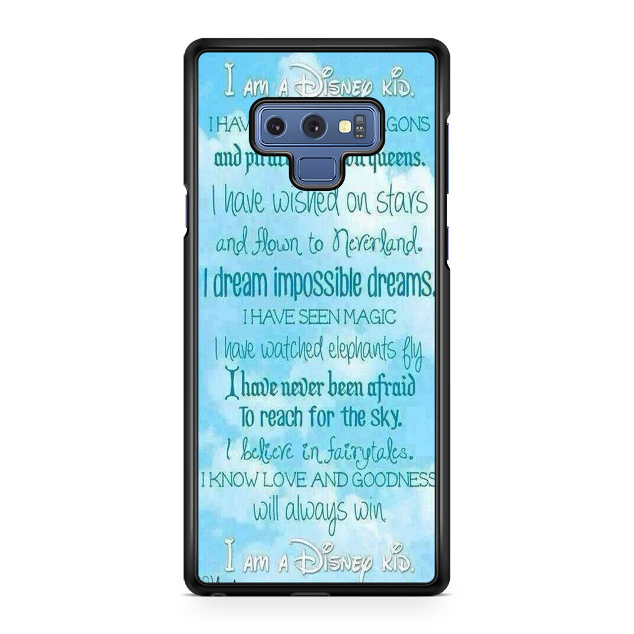 on sale 47cac 054fe Disney Quotes Samsung Galaxy Note 9 Case