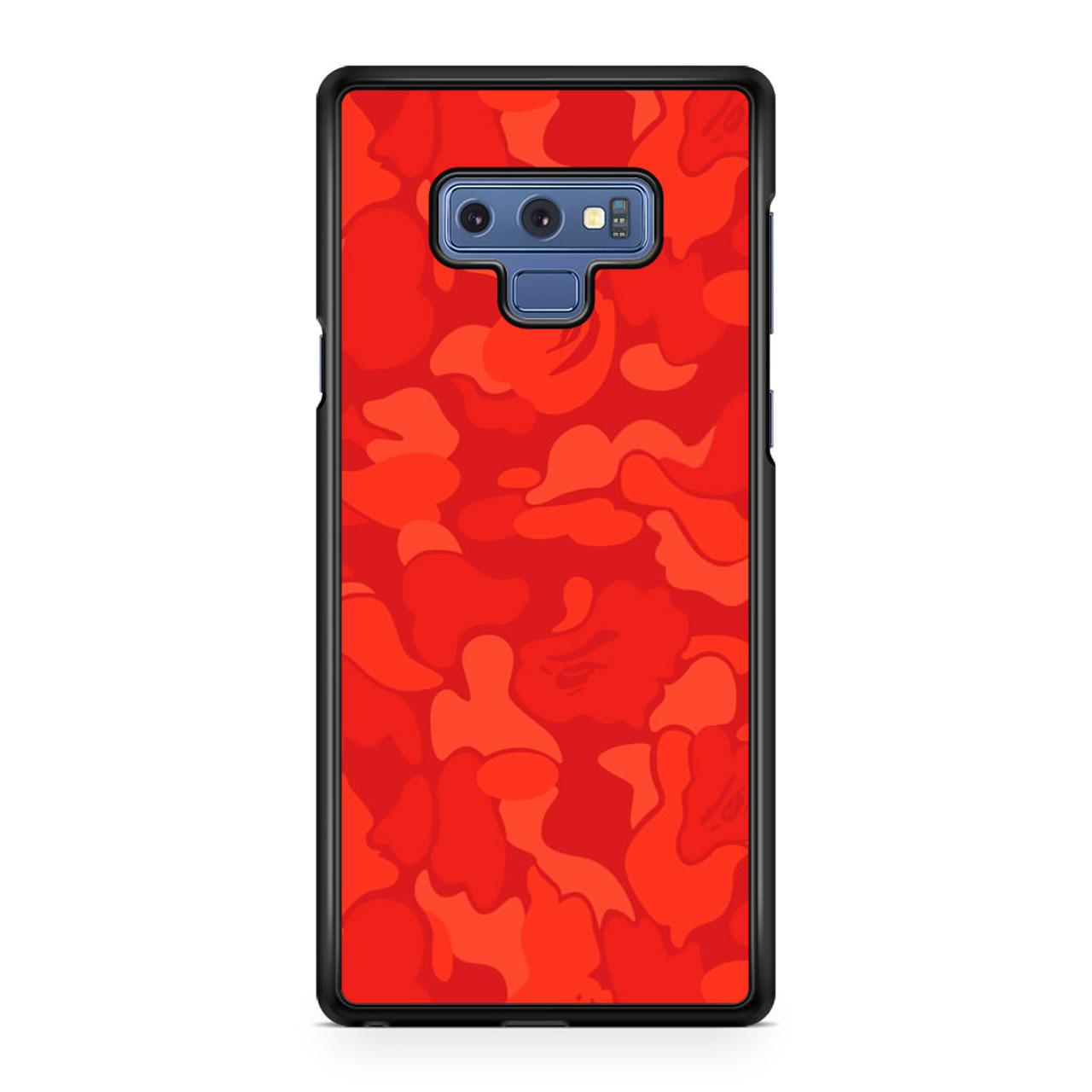 premium selection f85a8 1c530 Bape Camo Red Samsung Galaxy Note 9 Case