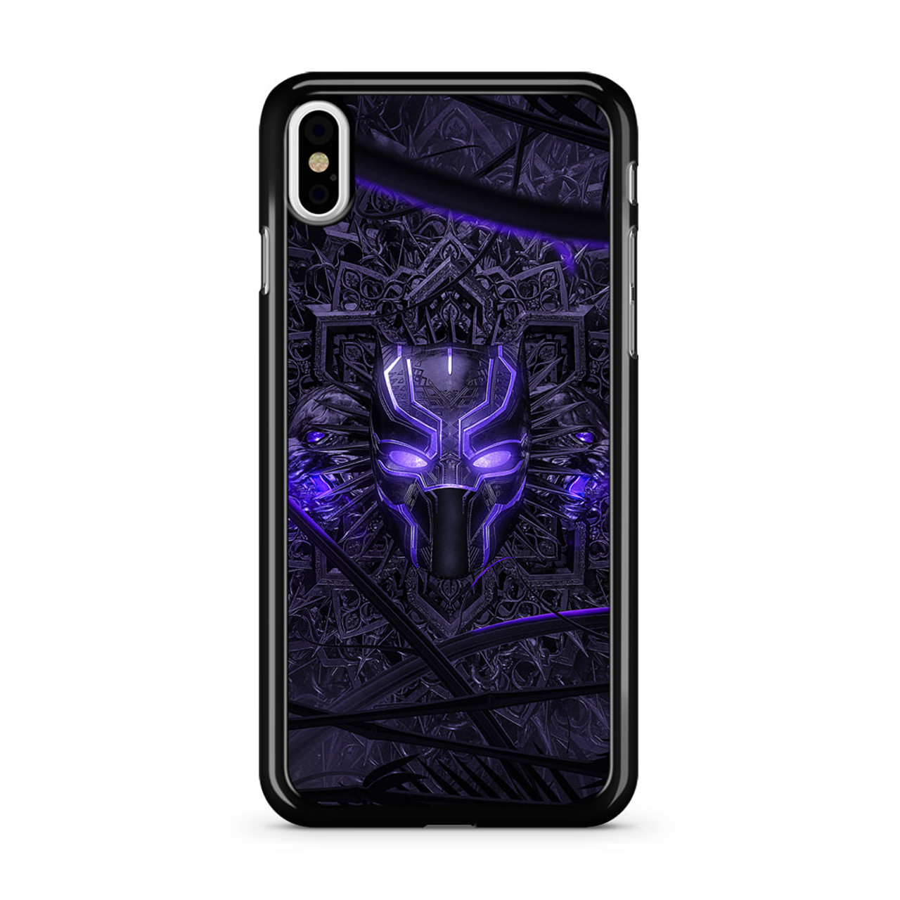 detailed look 0cfb5 80c6b Black Panther Purple Mask iPhone X Case