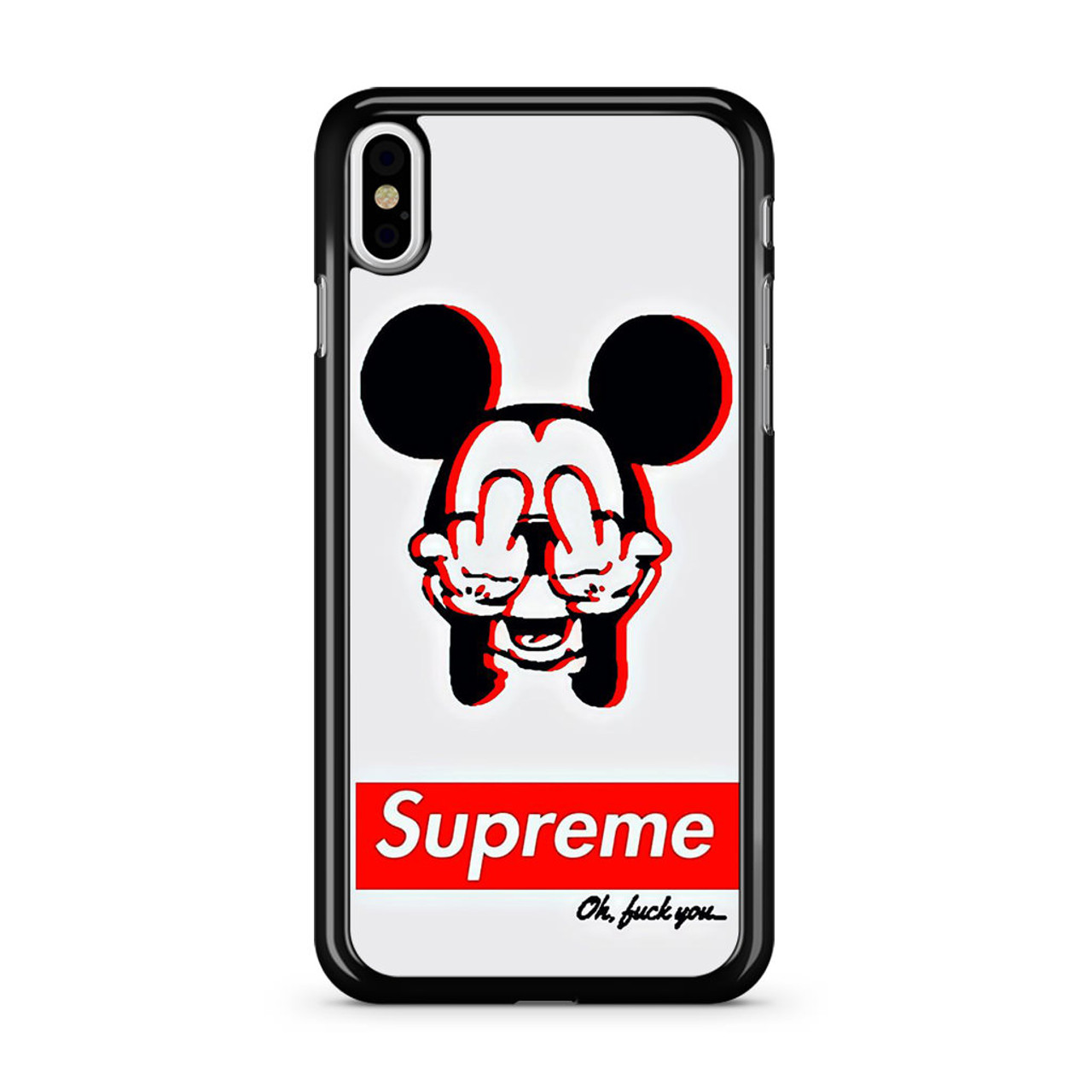 new style 328f8 14ac7 Mickey Mouse Dope Supreme iPhone X Case