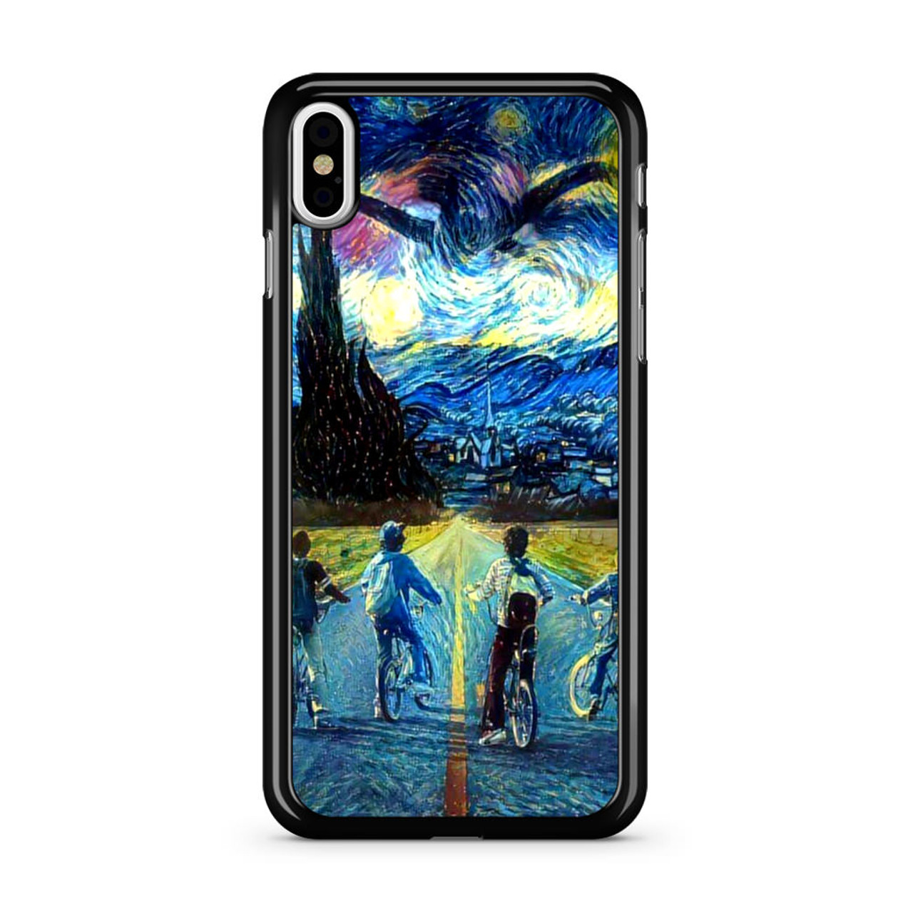 new product f1639 c1c7e Stranger Things Starry Night iPhone X Case