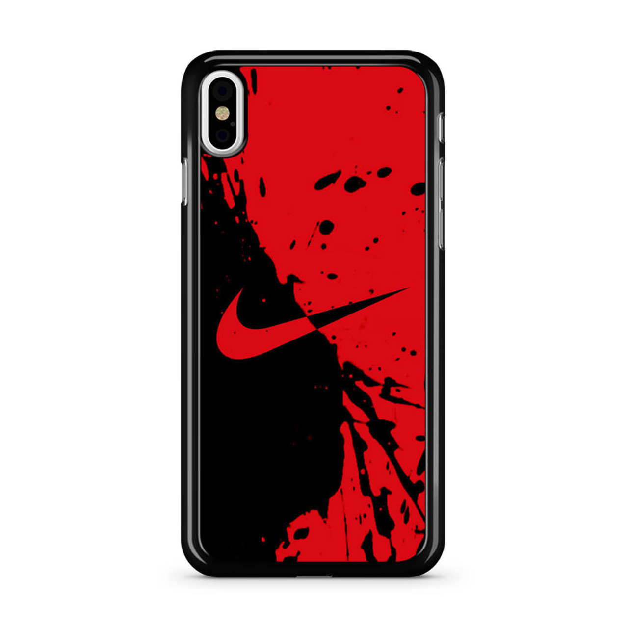 best website 870e5 bc75b Nike Red and Black iPhone Xs Case