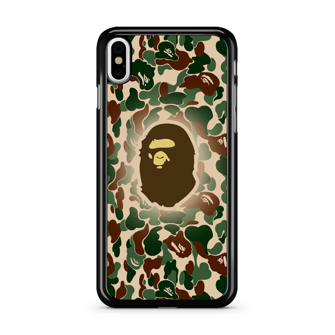 huge selection of 6be0b 16ff6 Bathing Ape Bape Camo iPhone Xs Case