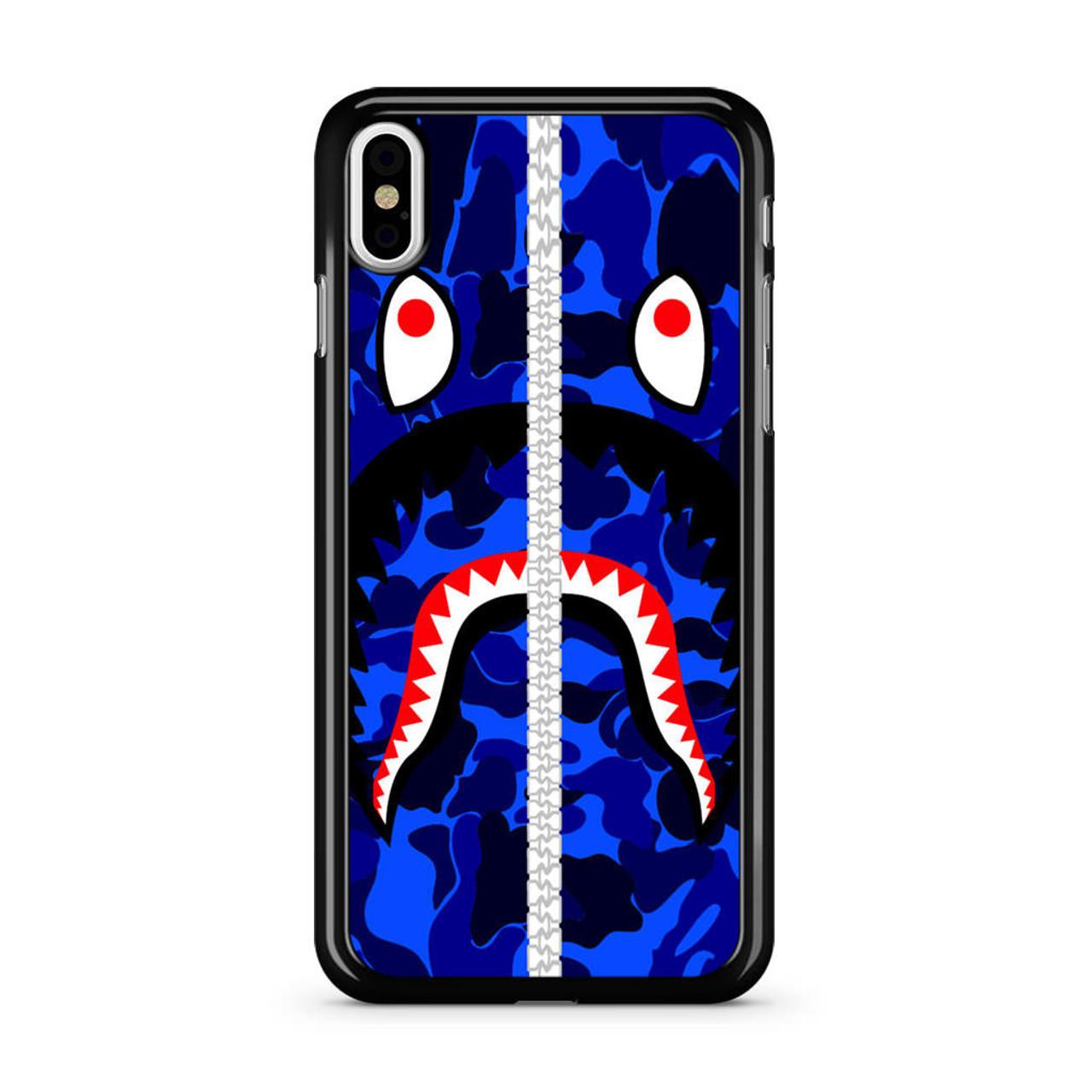 new style 1a0dd fa023 Bape Shark iPhone Xs Case