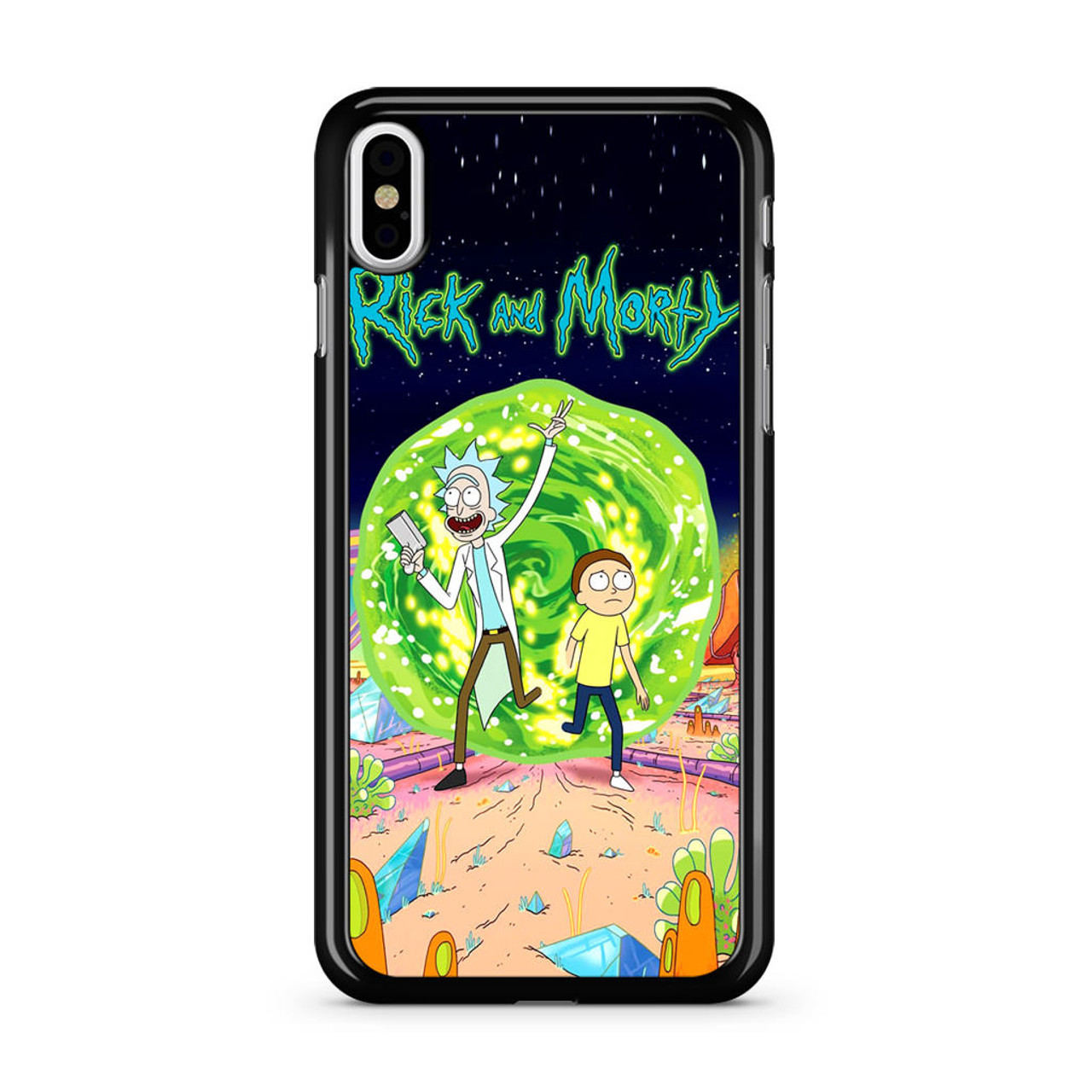 detailed look 804fd c4733 Rick and Morty Poster iPhone Xs Case