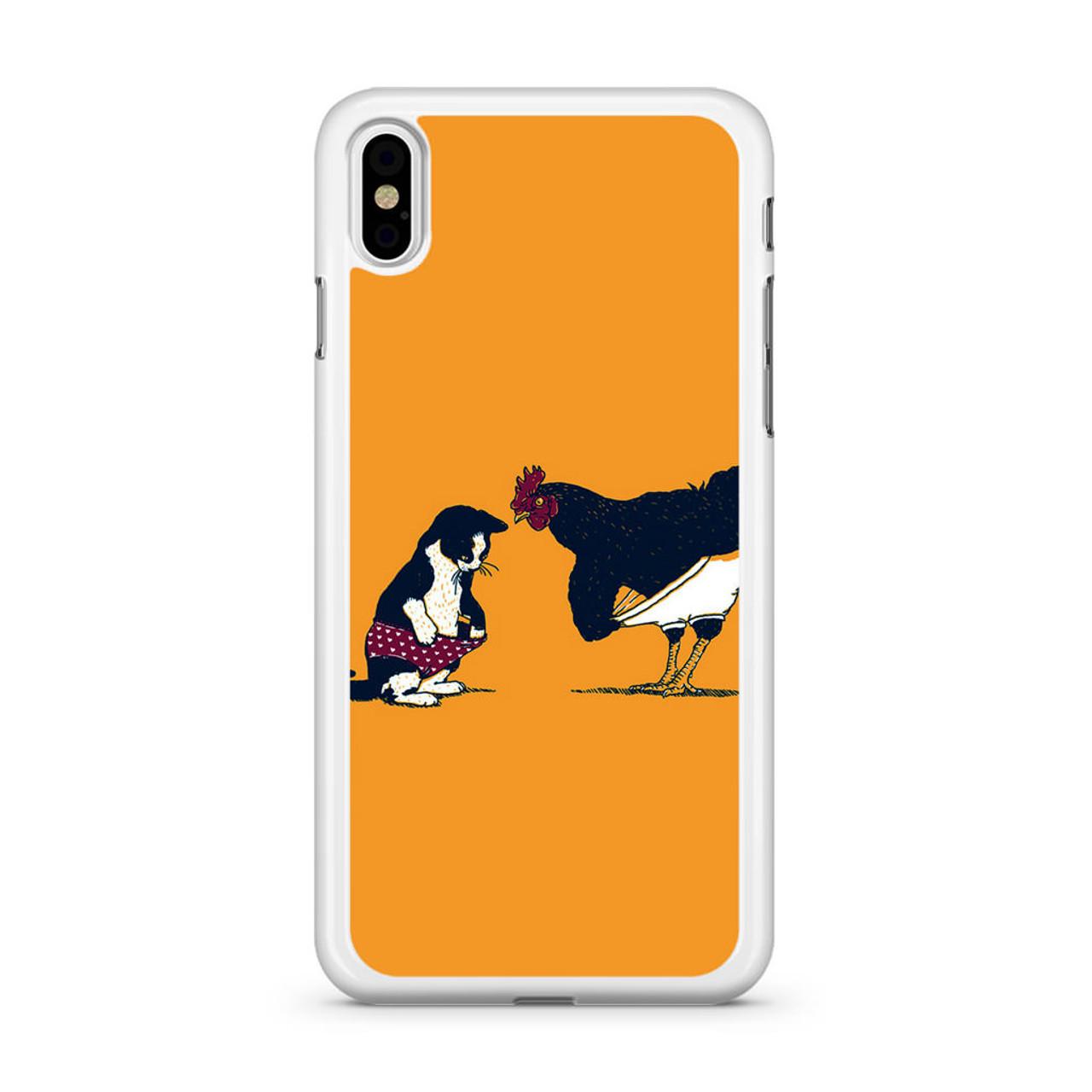 Cat Chicken Yellow Underwear Cute Iphone Xs Case
