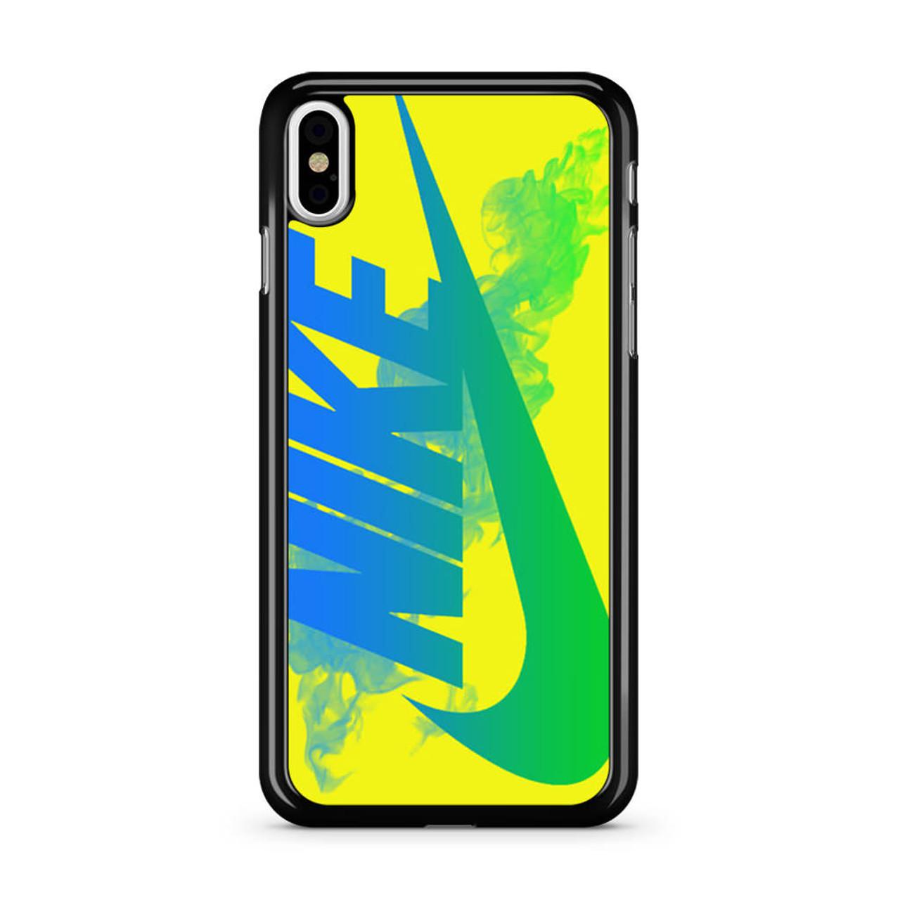 quality design 60a8b fecc3 Nike Logo in Yellow iPhone XS Max Case