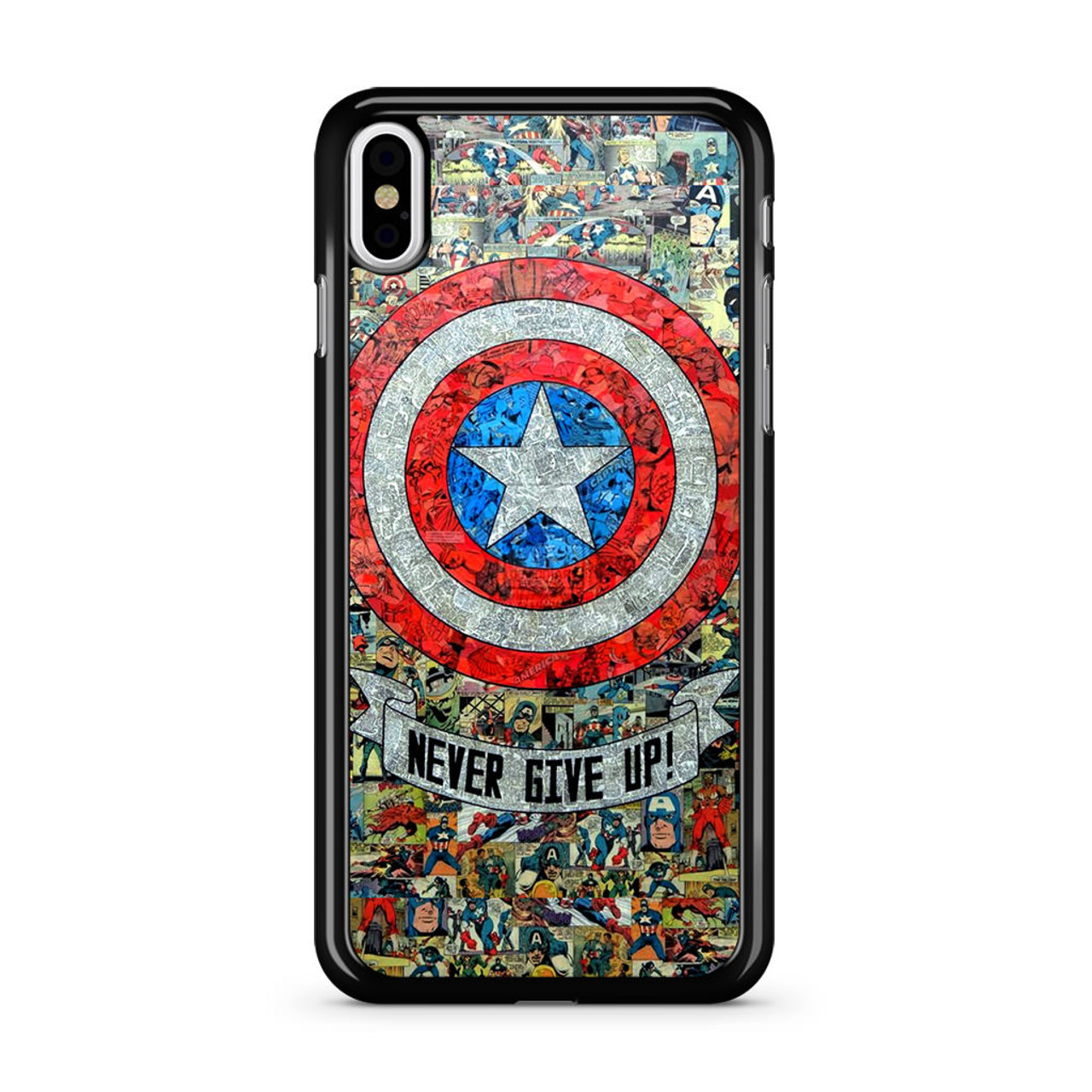 timeless design 300b1 df934 Captain America Never Give up iPhone XS Max Case