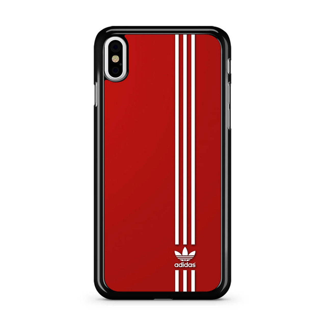the best attitude 1100d a5d79 Brand Adidas Red White Sport iPhone XS Max Case