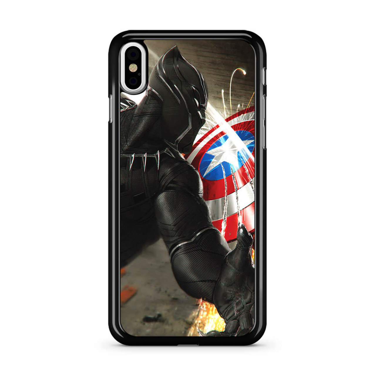 buy online f5dff b213b Black Panther Vs Captain America iPhone XS Max Case