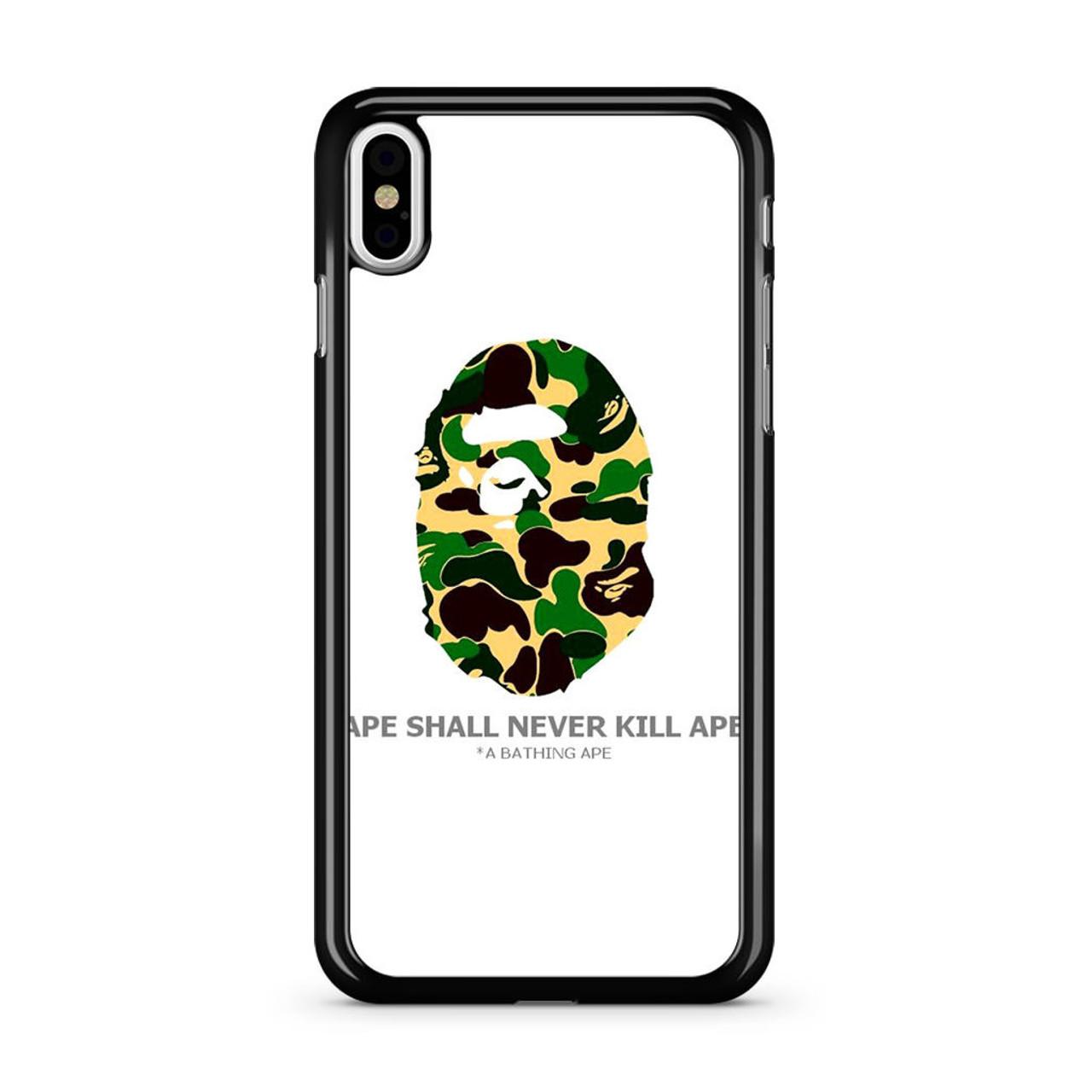 on sale 69492 3c2bc Bape Ape Camo iPhone XS Max Case
