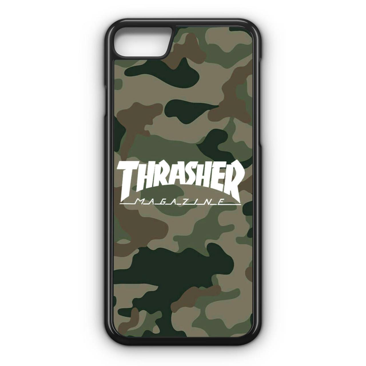 new product 6dbb8 01a72 Thrasher Magazine Bape Camo iPhone 7 Case