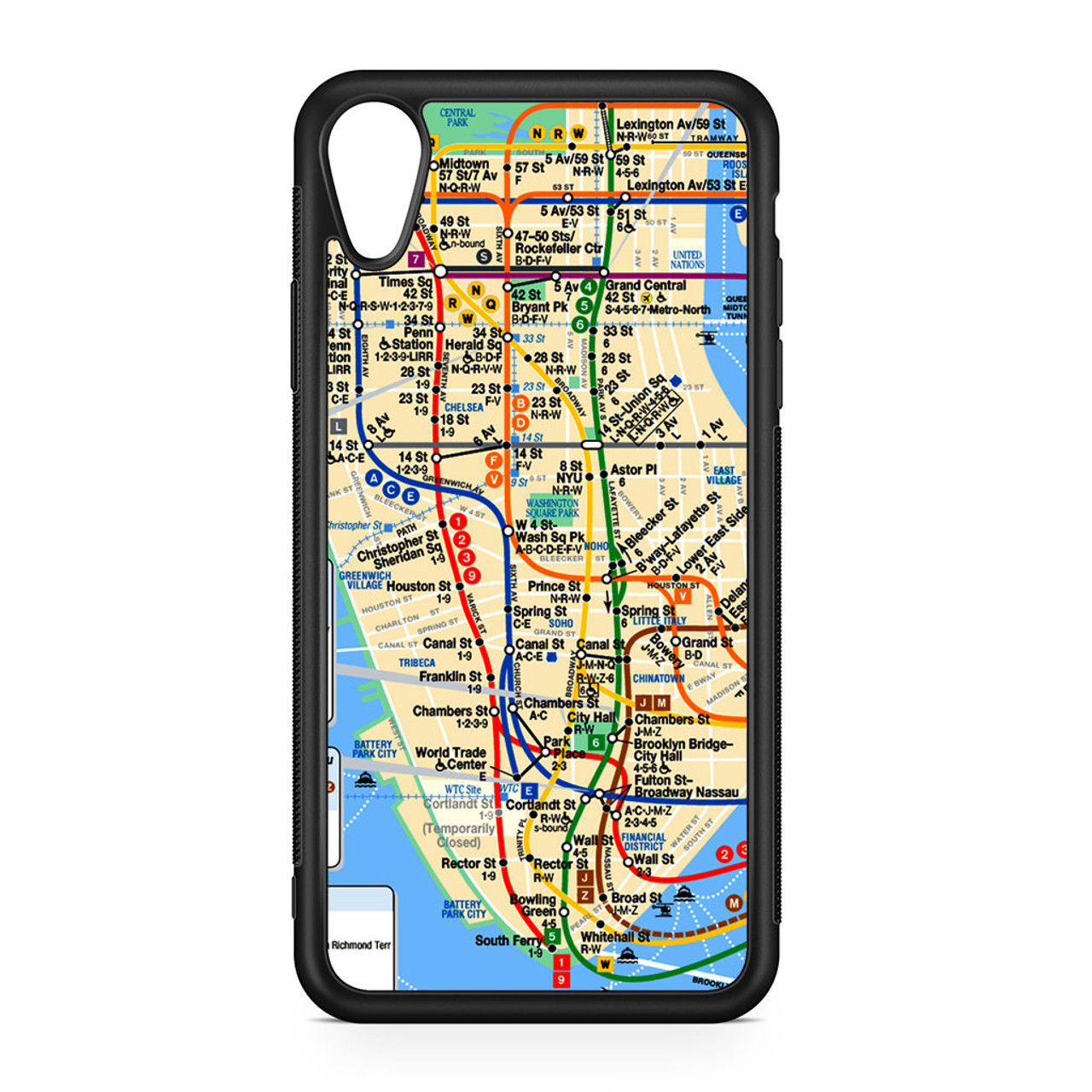 Portable Nyc Subway Map.Nyc Subway Map Iphone Xr Case